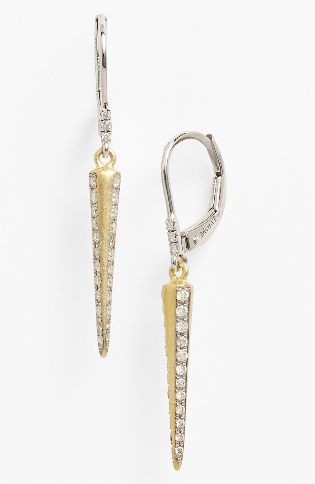 Alternate Image 1 Selected - MeiraT Diamond Spike Drop Earrings