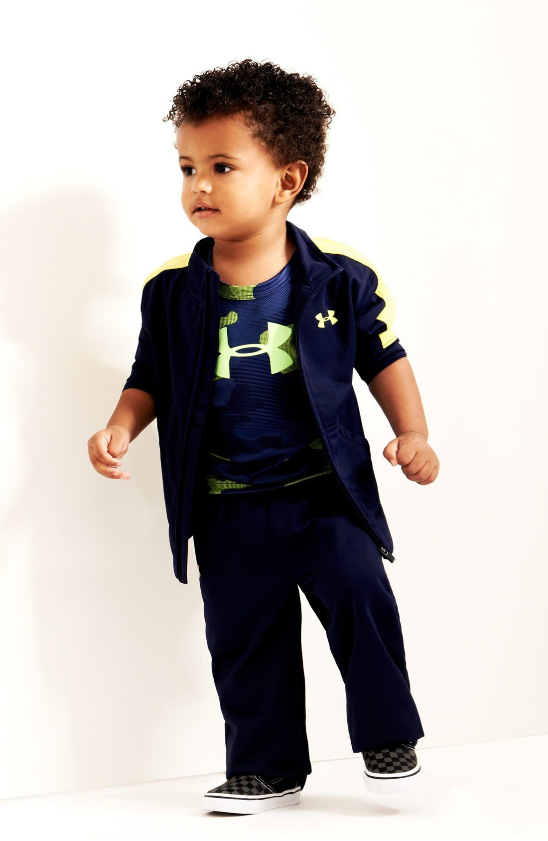 Alternate Image 1 Selected - Under Armour Jacket & Pants & T-Shirt (Baby Boys)