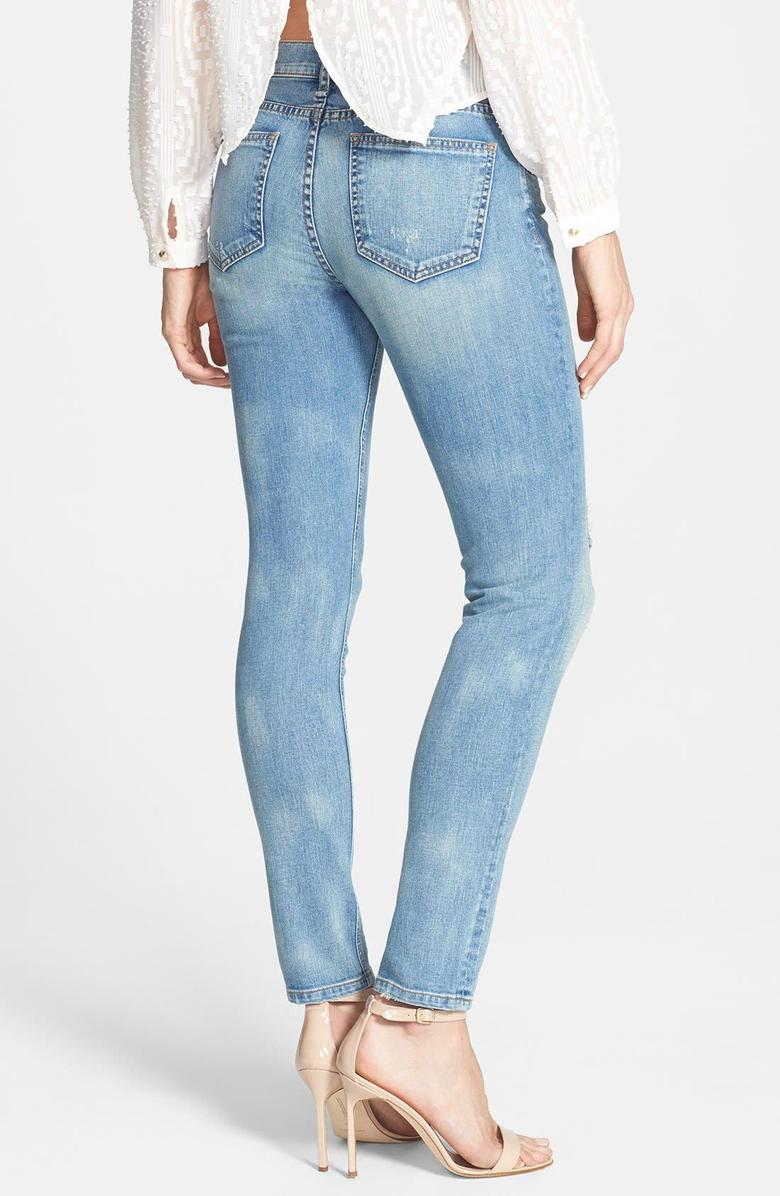 Alternate Image 2  - edyson 'Sloan' Destroyed Skinny Jeans (Marmi)