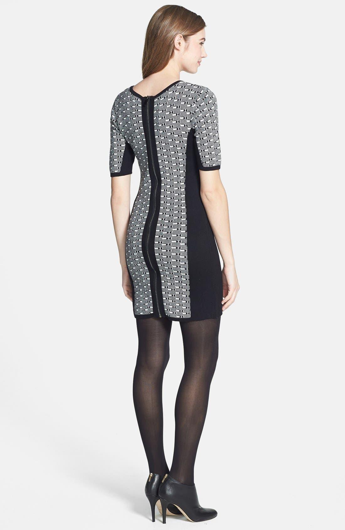Alternate Image 2  - Dex Colorblock Geometric Jacquard Sweater Dress