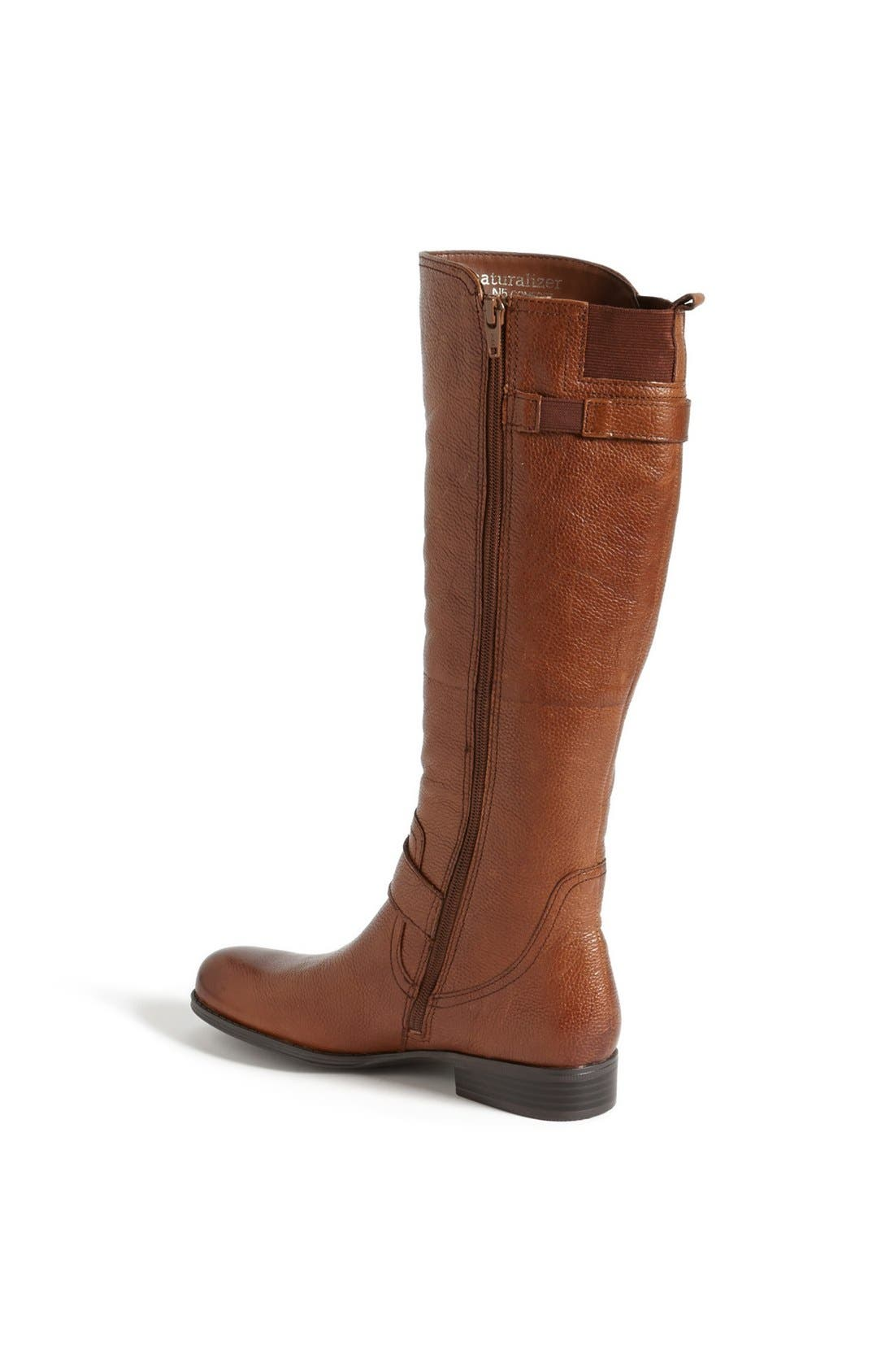 Alternate Image 2  - Naturalizer 'Jersey' Leather Riding Boot (Wide Calf) (Online Only)