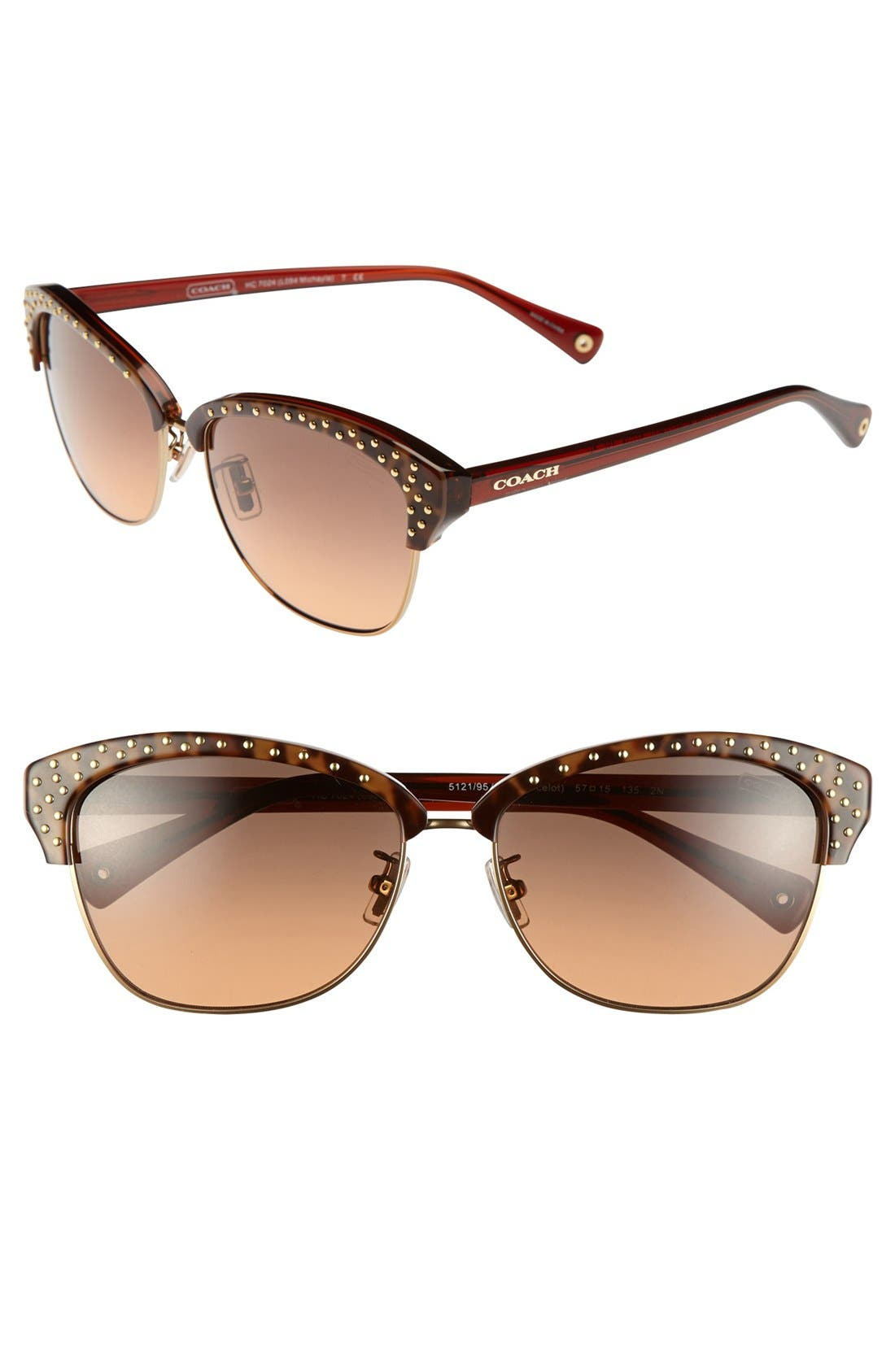 Main Image - COACH 'Clubmaster' 57mm Cat Eye Sunglasses