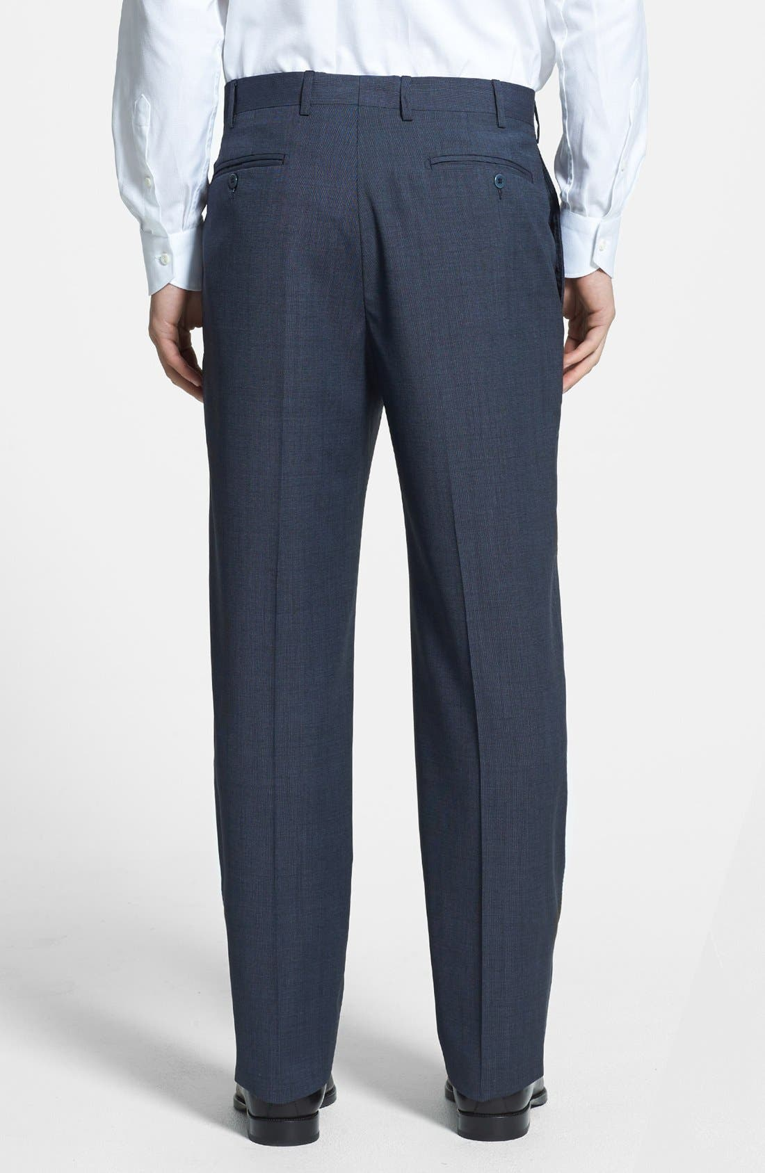 Alternate Image 2  - Zanella 'Todd' Flat Front Wool Trousers