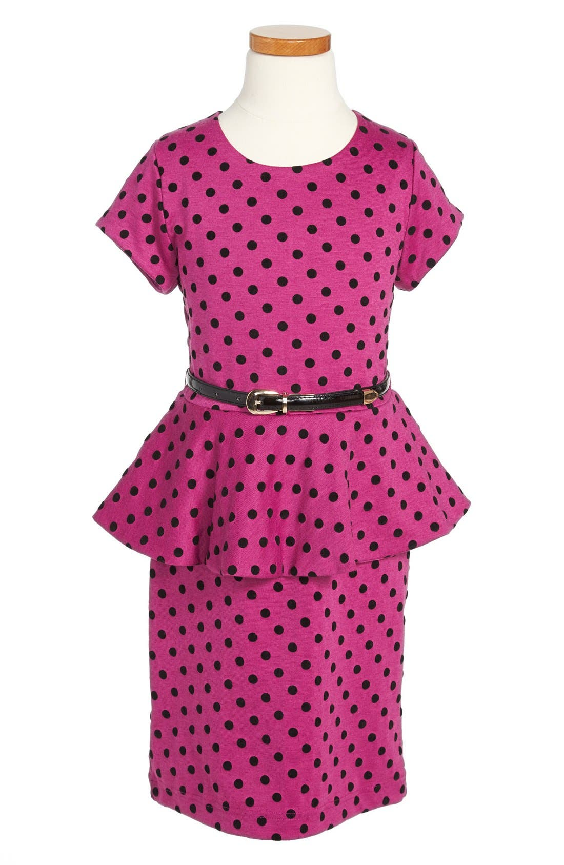 Main Image - BLUSH by Us Angels Peplum Dress (Big Girls)
