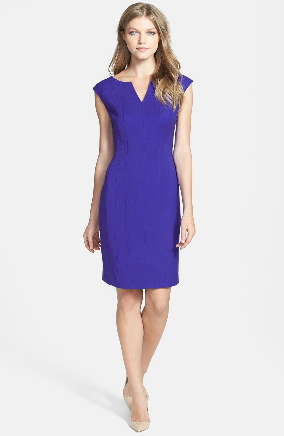 Alternate Image 2  - Ivanka Trump Structured Stretch Woven Sheath Dress