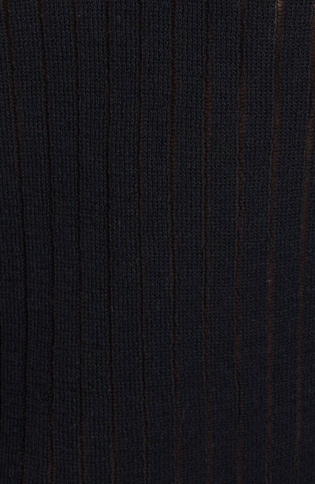 Alternate Image 3  - Leith Sheer Ribbed Cotton Sweater