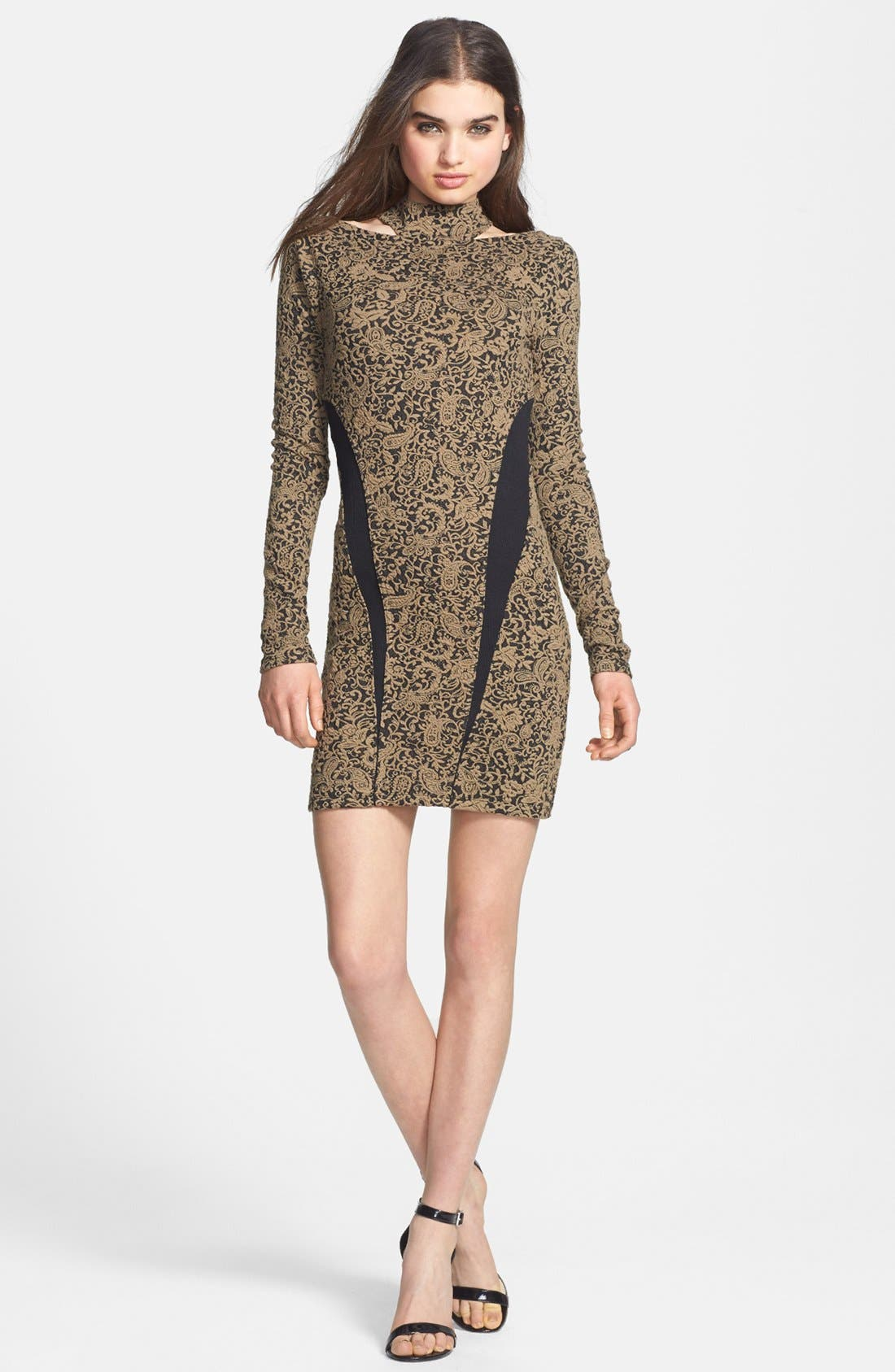Alternate Image 1 Selected - Free People 'Night Play' Textured Paisley Dress