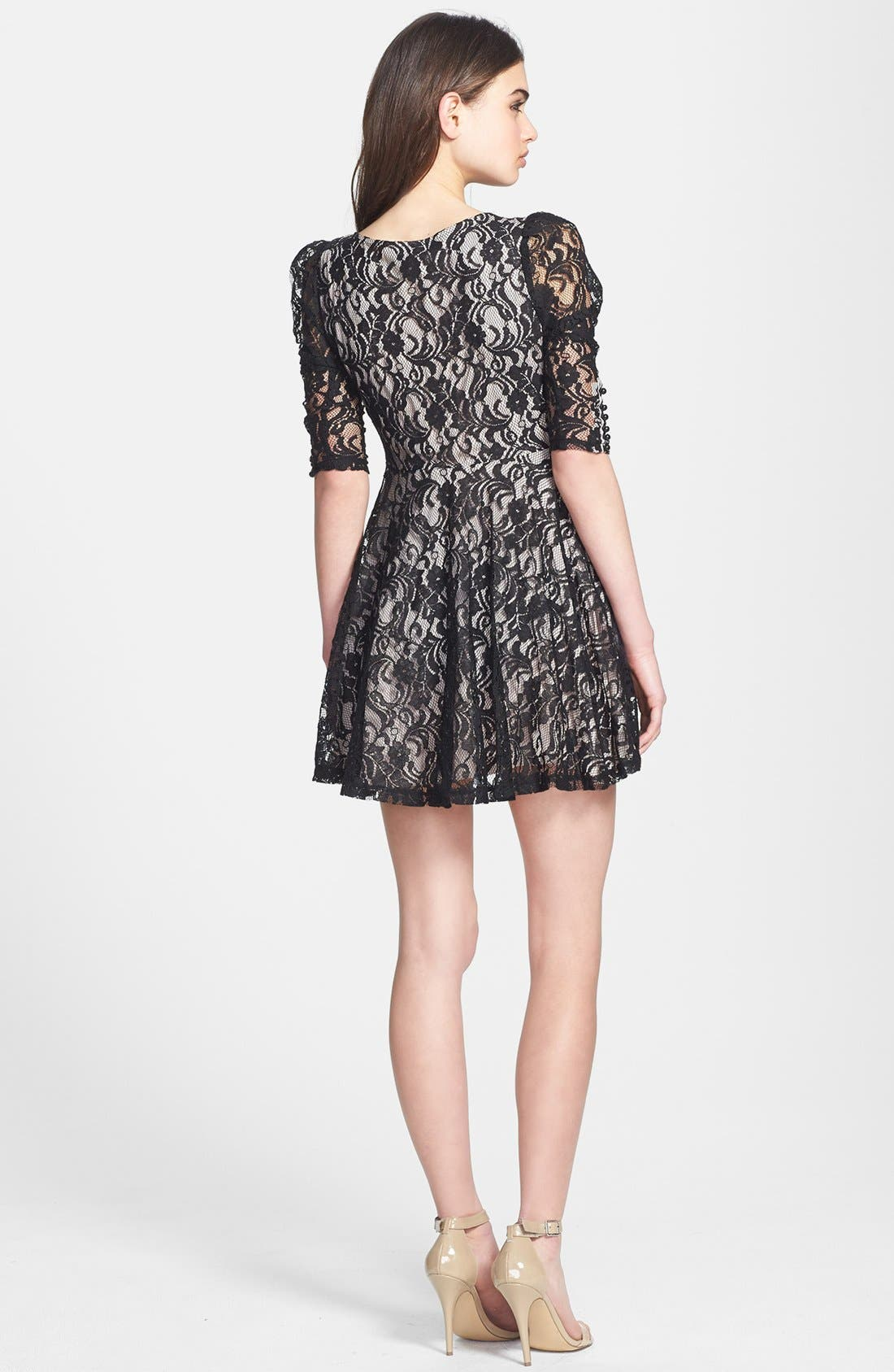 Alternate Image 2  - Jarlo Lace Fit & Flare Dress