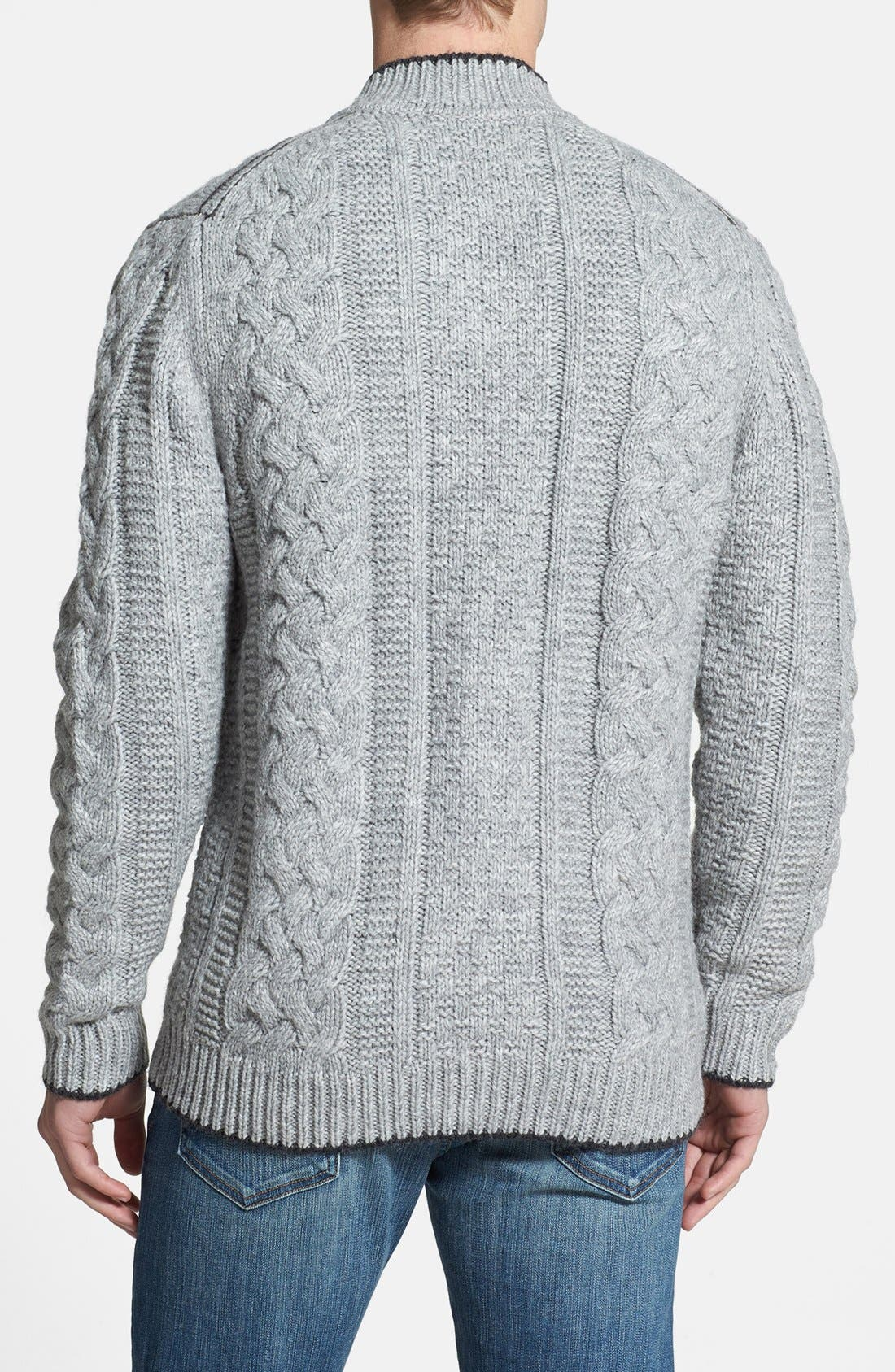 Alternate Image 2  - Tommy Bahama 'Upstate' Cable Knit Wool Blend Cardigan