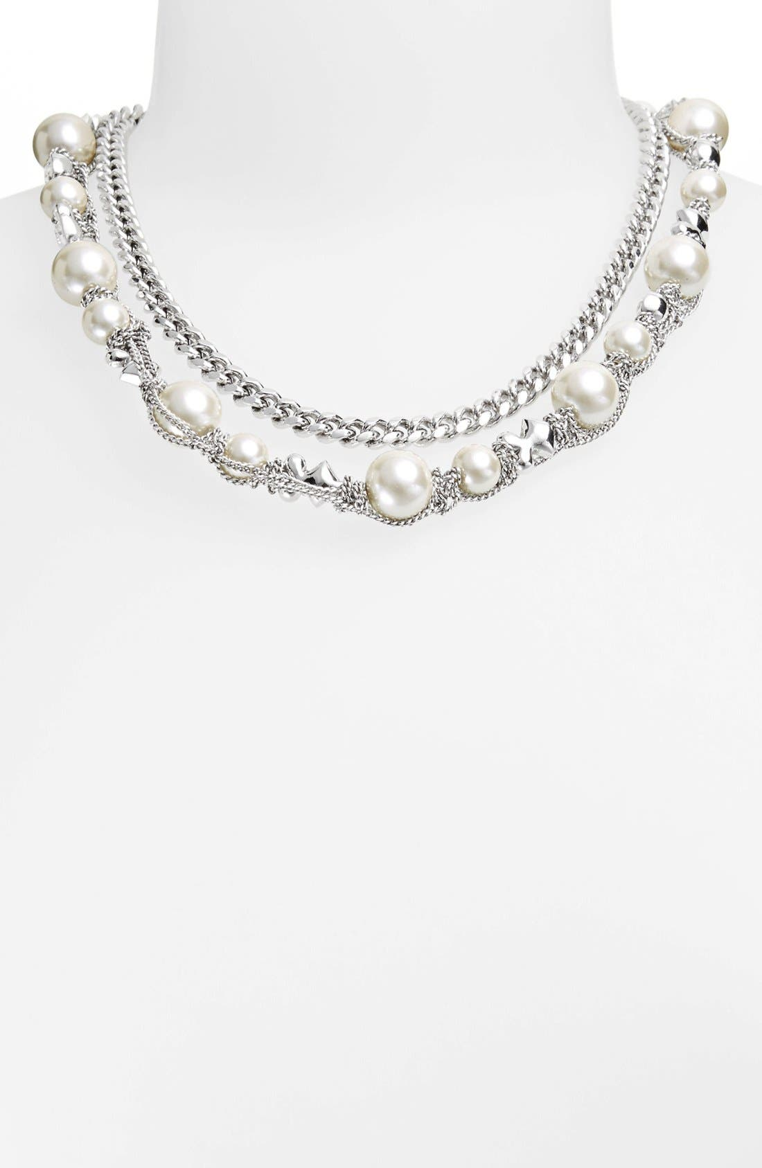 Alternate Image 2  - Givenchy Faux Pearl & Chain Necklace