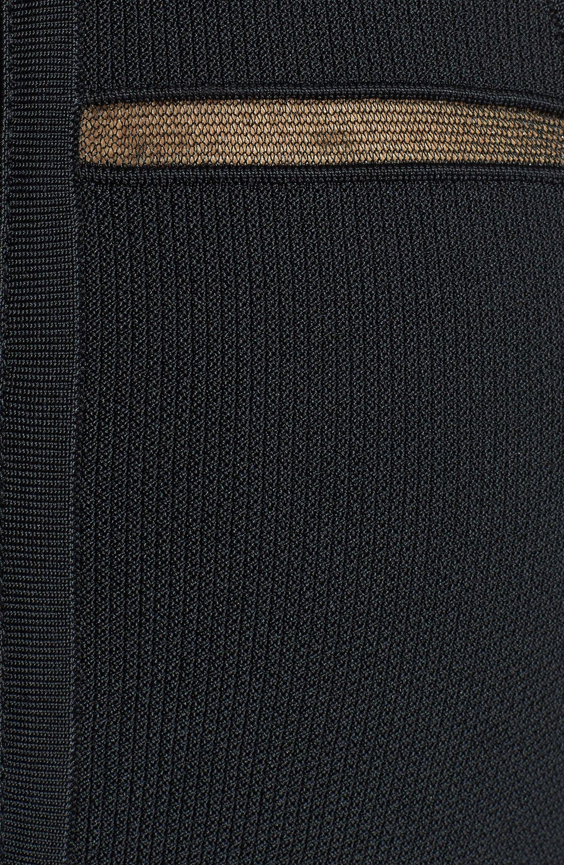 Alternate Image 4  - Nicole Miller 'Cody' Banded Knit Fit & Flare Dress