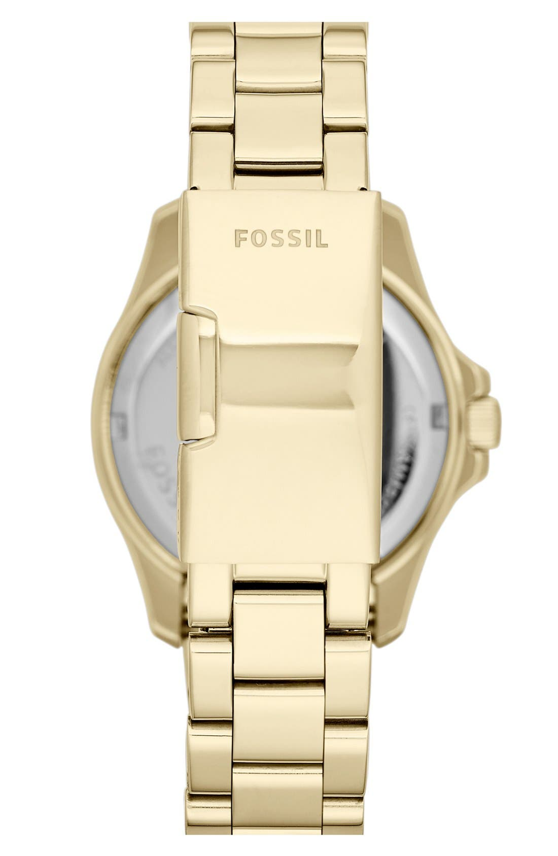 Alternate Image 2  - Fossil Round Crystal Bezel Bracelet Watch, 36mm