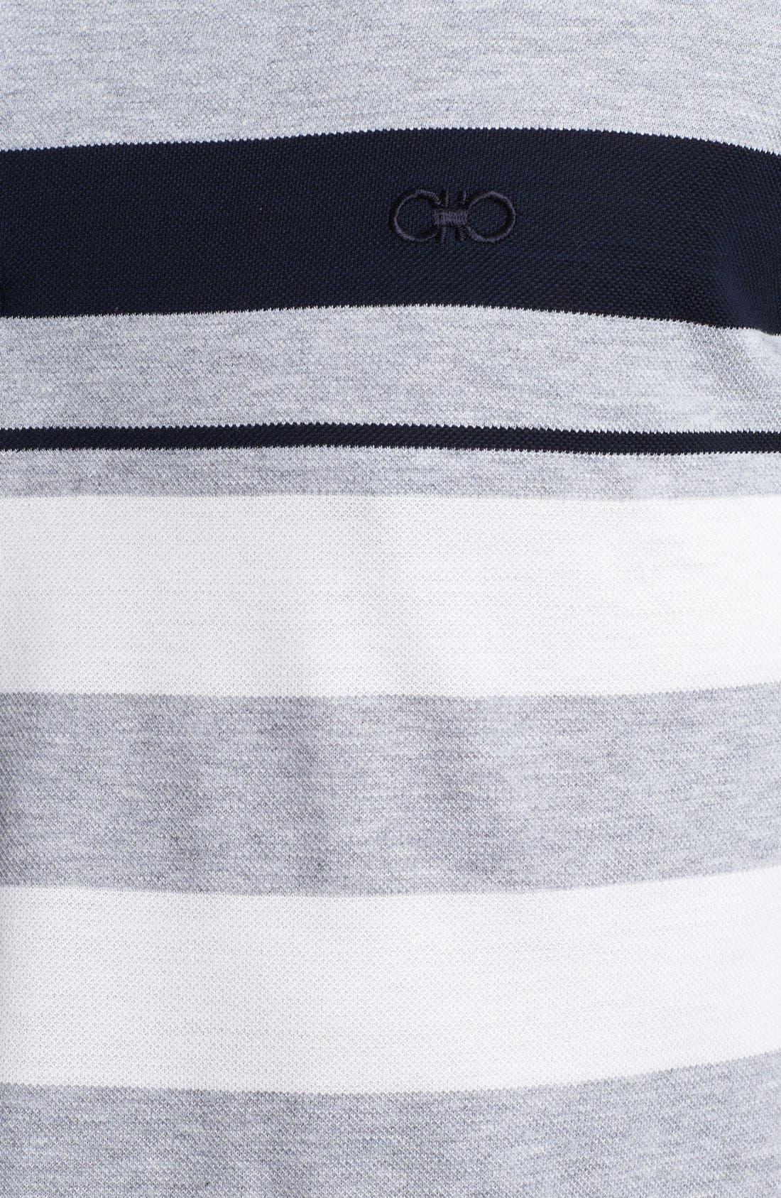 Alternate Image 3  - Salvatore Ferragamo Trim Fit Stripe Polo