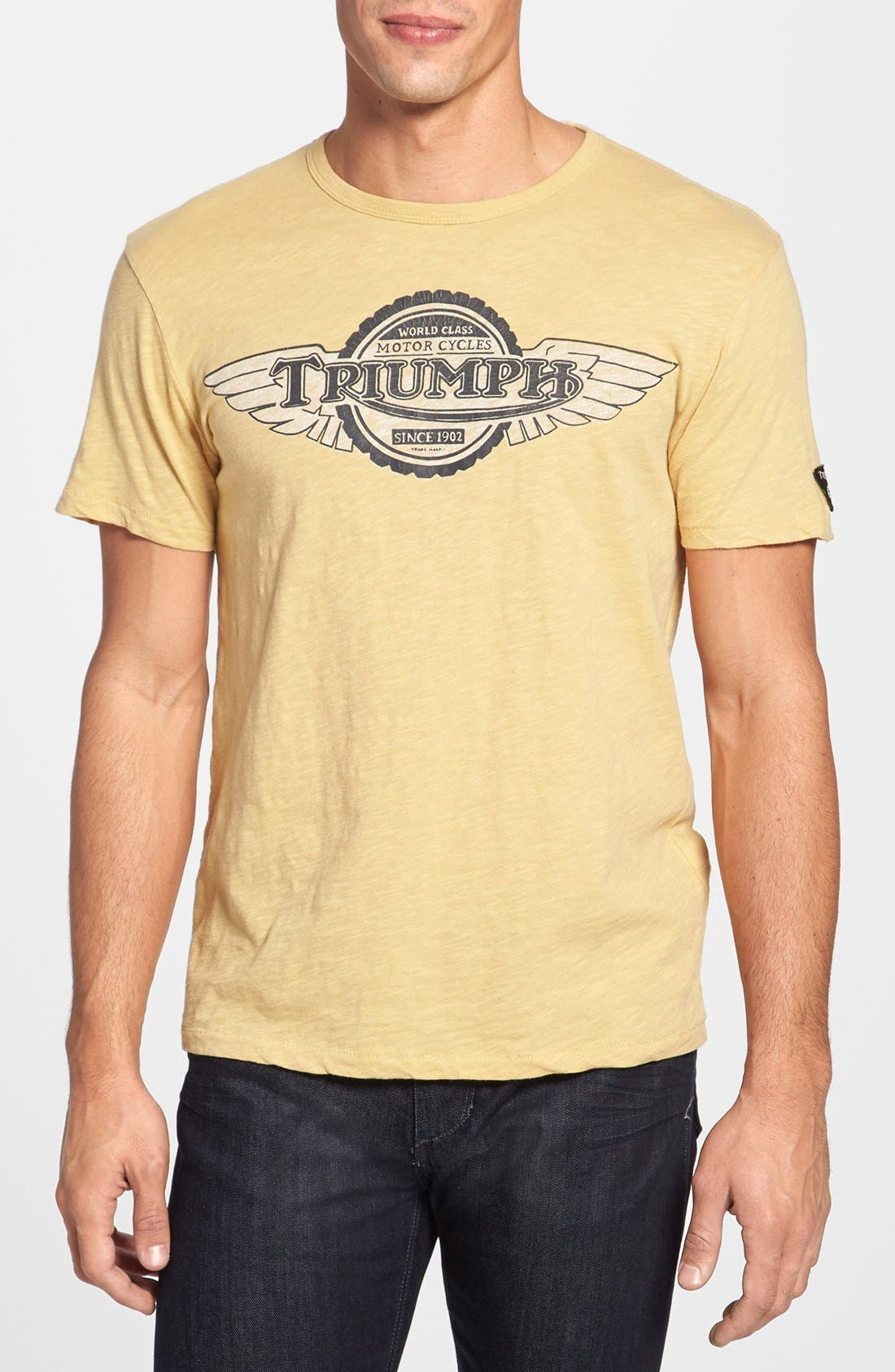 Alternate Image 1 Selected - Lucky Brand 'Triumph™' Graphic Crewneck T-Shirt