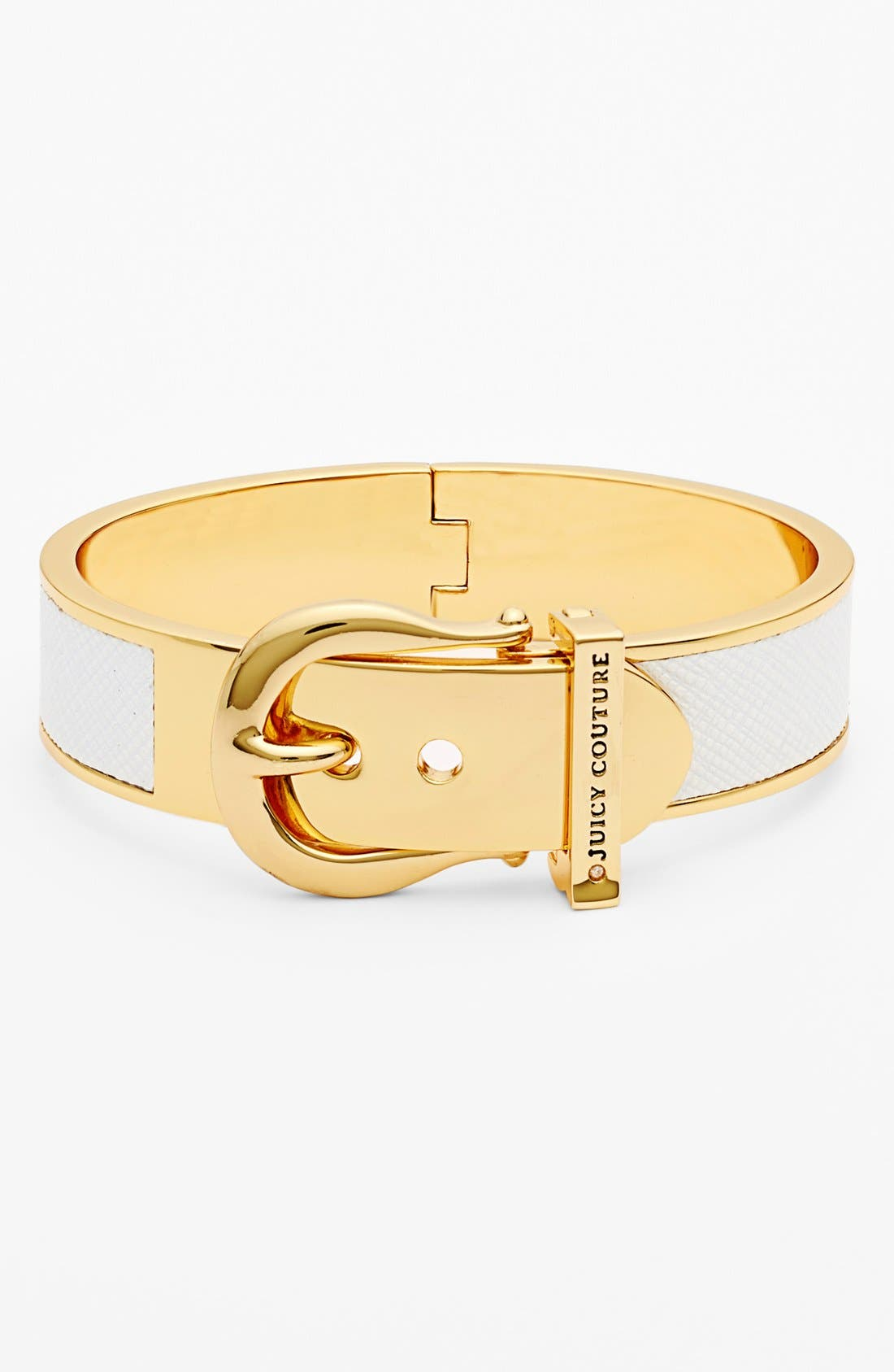 Alternate Image 1 Selected - Juicy Couture 'Jewelry Box Treasures' Leather Buckle Hinged Bangle