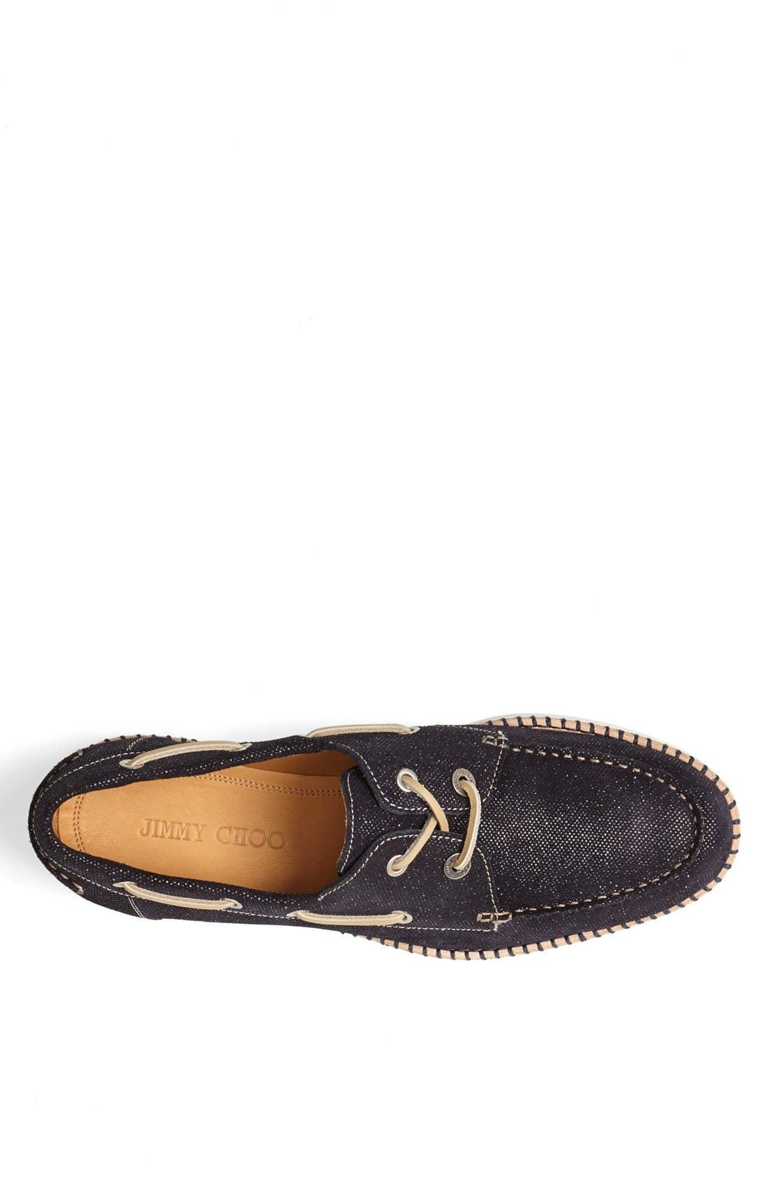 Alternate Image 3  - Jimmy Choo 'Danby' Glitter Boat Shoe
