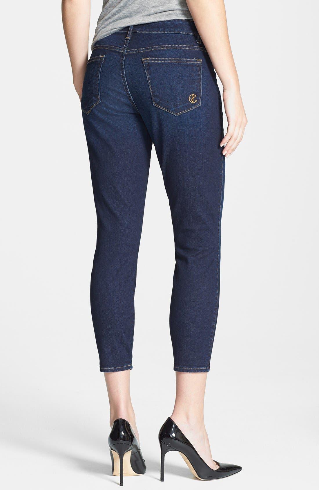 Alternate Image 2  - CJ by Cookie Johnson 'Believe' Crop Stretch Denim Skinny Jeans (Jeames)