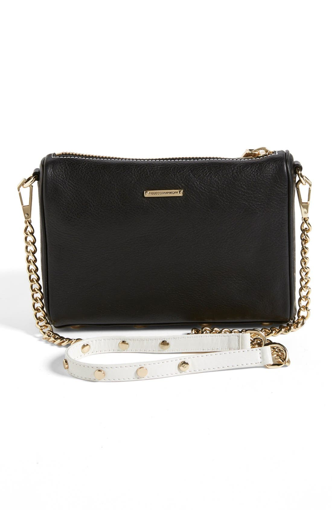Alternate Image 4  - Rebecca Minkoff '5 Zip - Mini' Two-Tone Leather Crossbody Bag