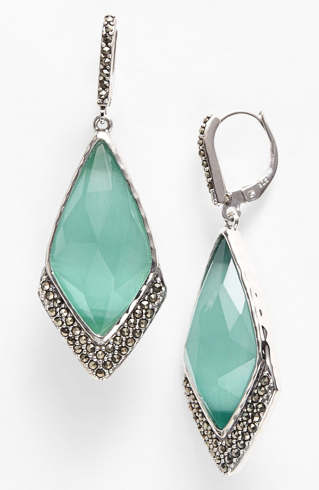 Alternate Image 1 Selected - Judith Jack 'Mint Elegante' Large Drop Earrings