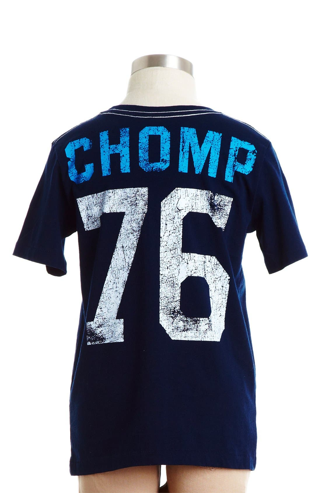Alternate Image 2  - Peek 'Chomp Shark' Cotton T-Shirt (Toddler Boys, Little Boys & Big Boys)