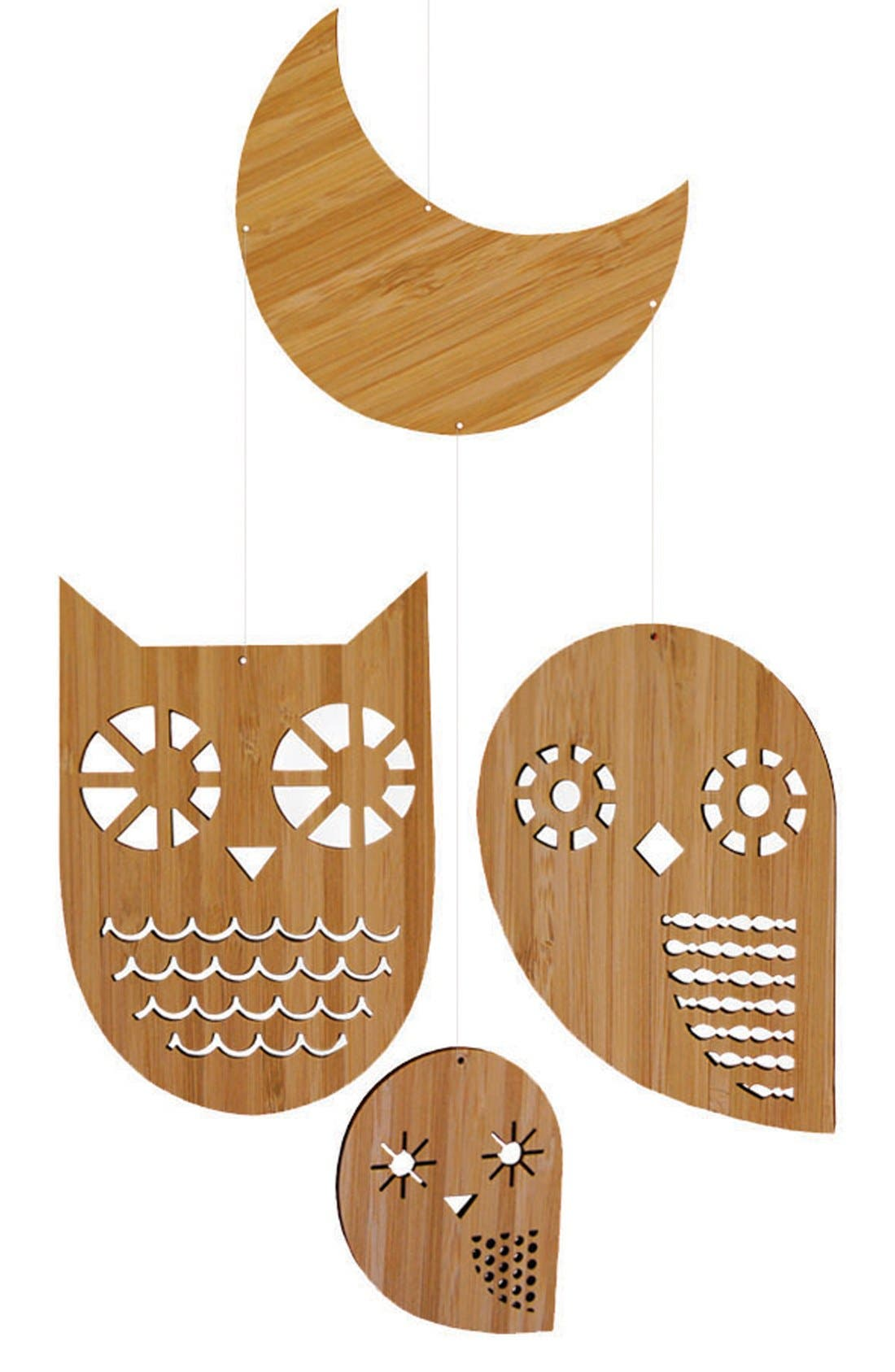 Alternate Image 1 Selected - Petit Collage 'Owl Family - Classic' Bamboo Mobile