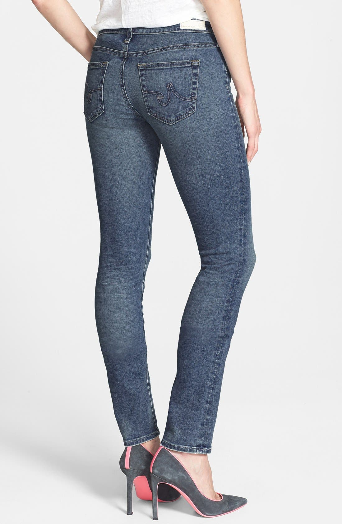 Alternate Image 2  - AG 'Aubrey' Skinny Straight Leg Jeans (Eighteenth Year)