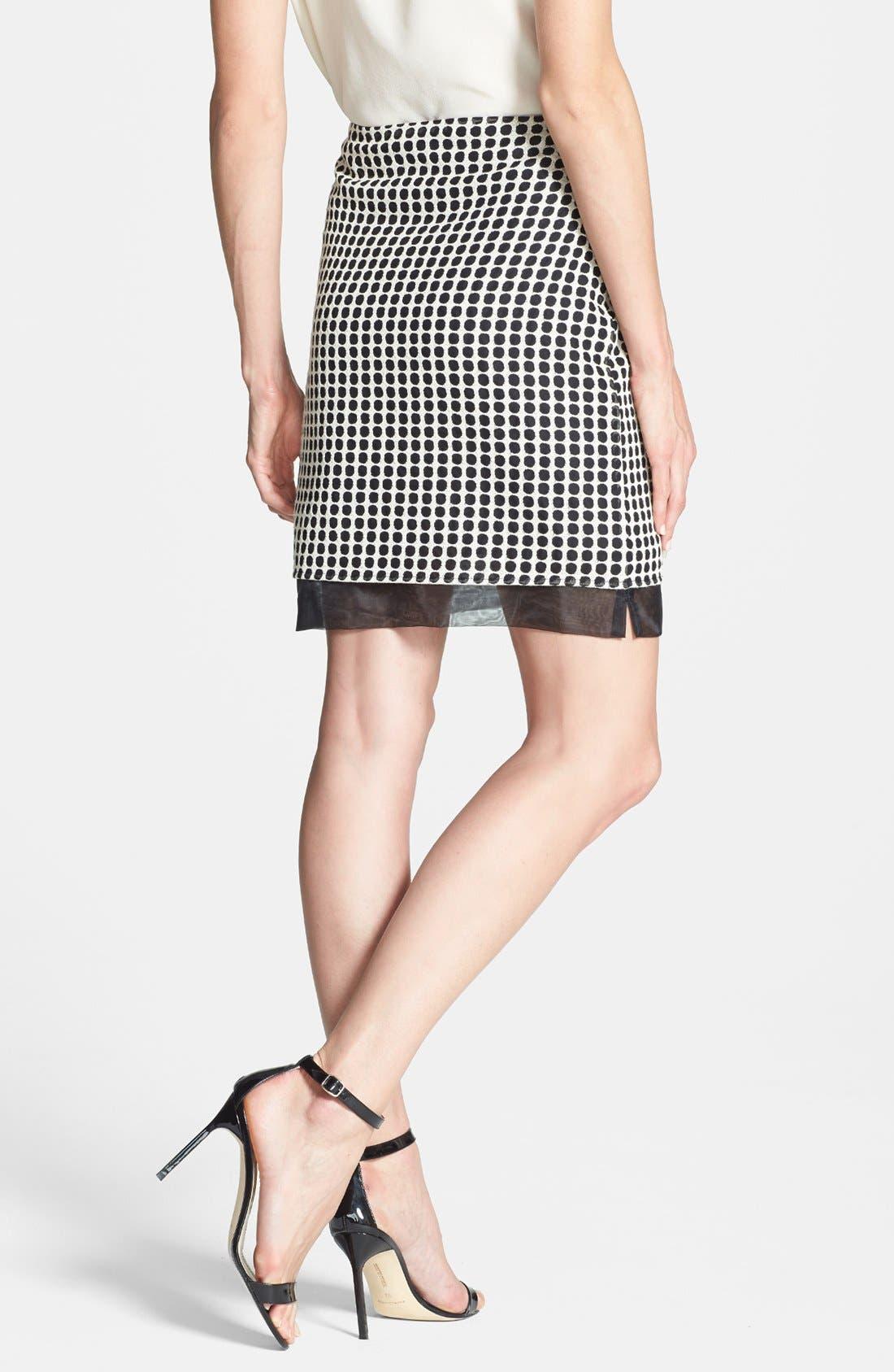 Alternate Image 2  - Vince Camuto Two-Tone Dot Print Organza Skirt