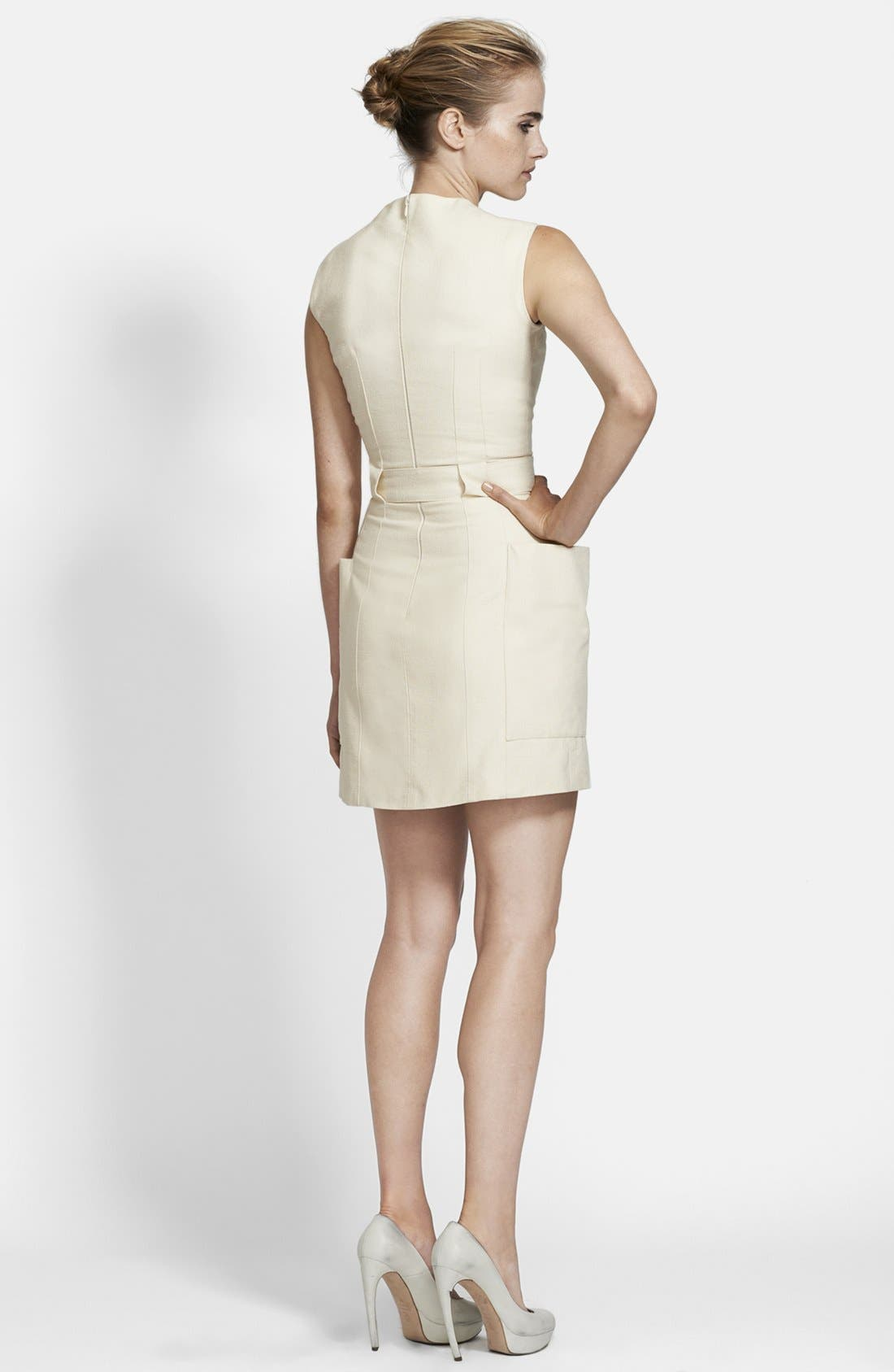 Alternate Image 2  - Alexander McQueen Belted Canvas Dress