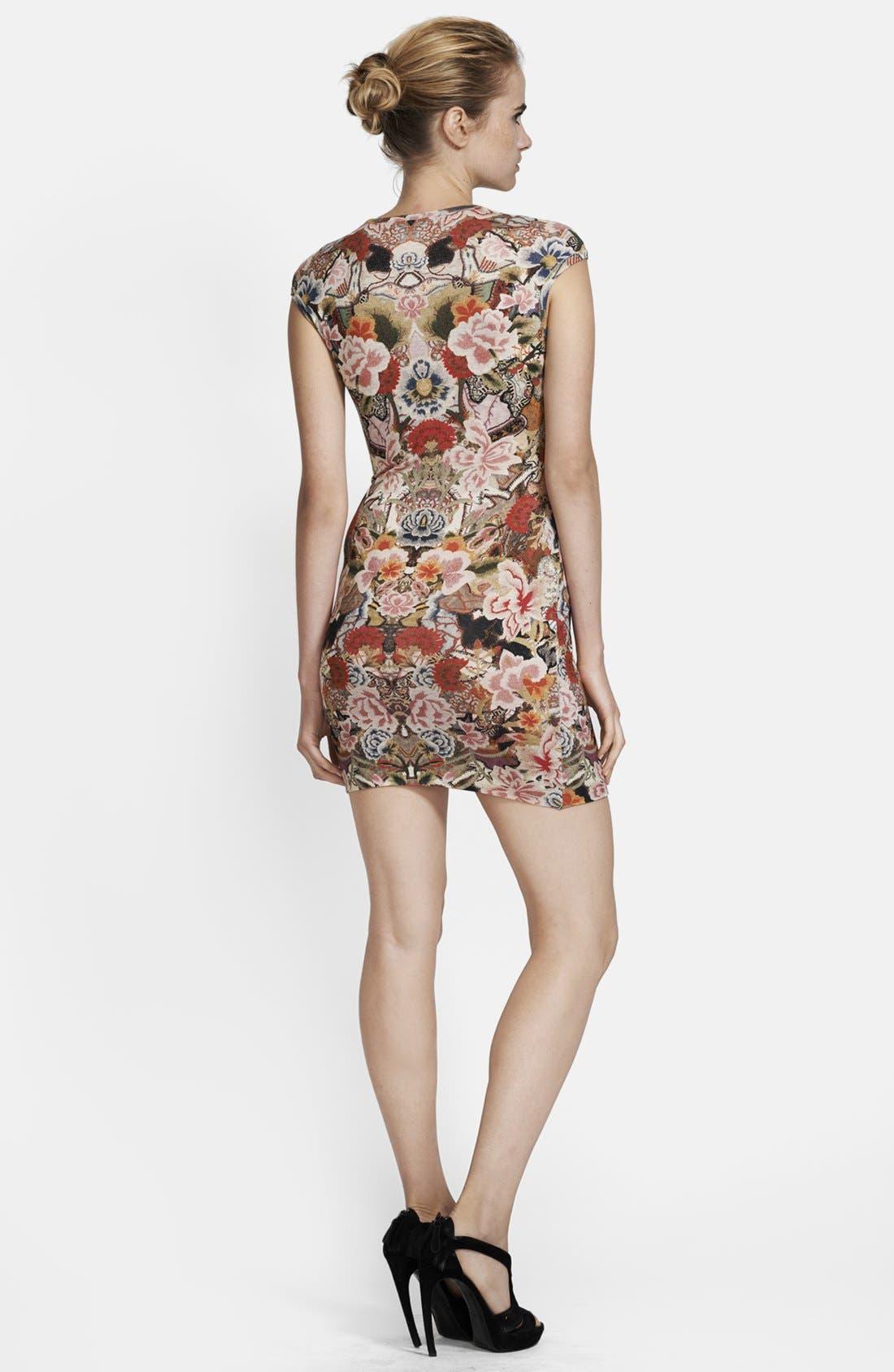 Alternate Image 2  - Alexander McQueen Patchwork Floral Print Dress