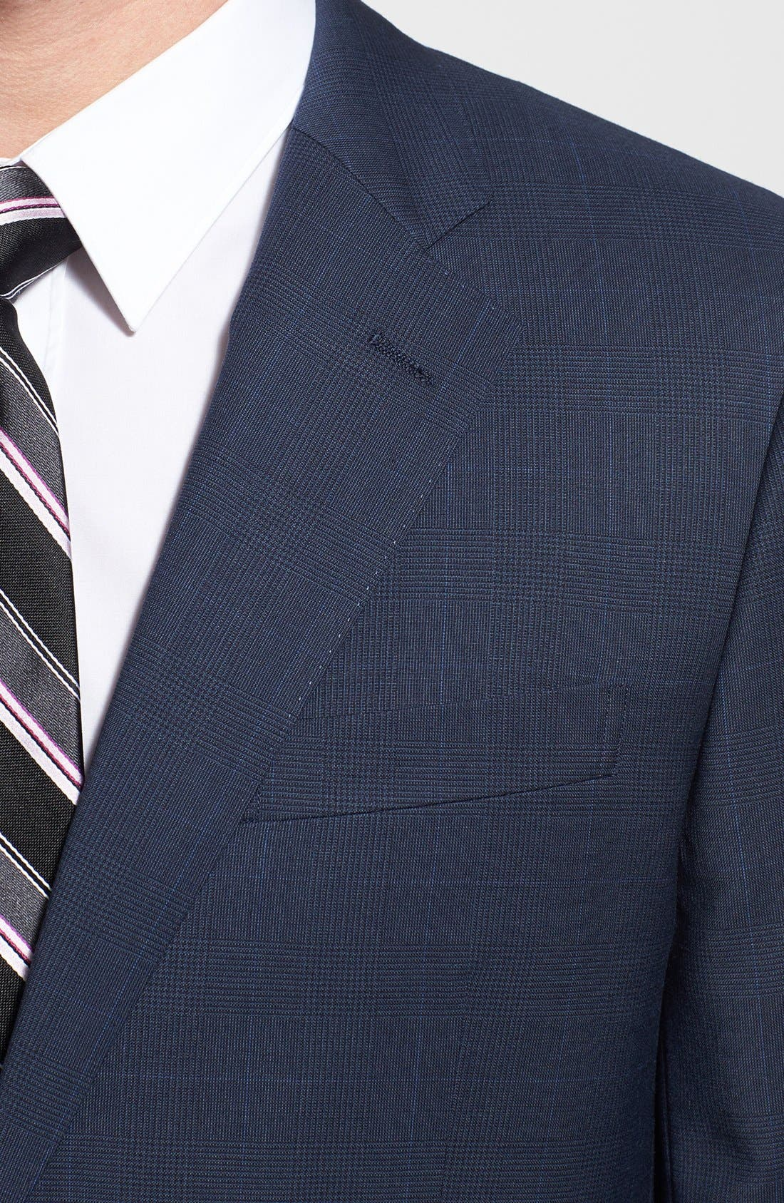 Alternate Image 4  - John W. Nordstrom® Classic Fit Windowpane Wrinkle Free Travel Suit