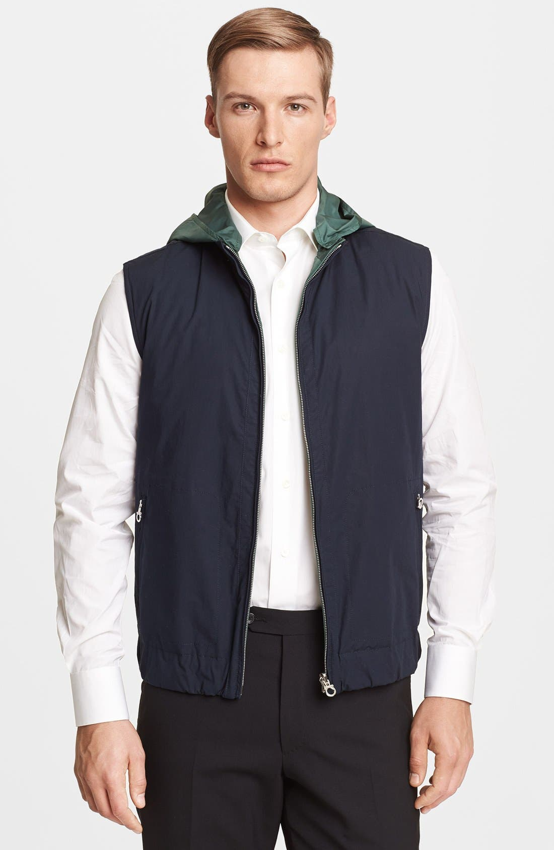 Alternate Image 1 Selected - Salvatore Ferragamo Reversible Down Vest