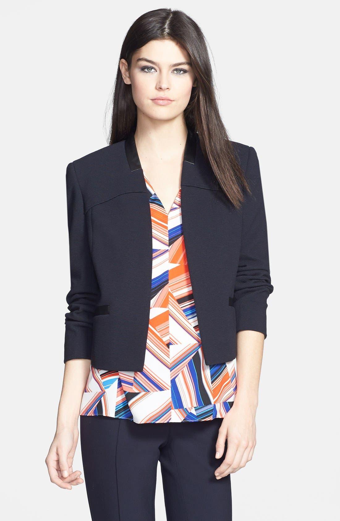 Alternate Image 1 Selected - Classiques Entier® Ottoman Weave Short Jacket