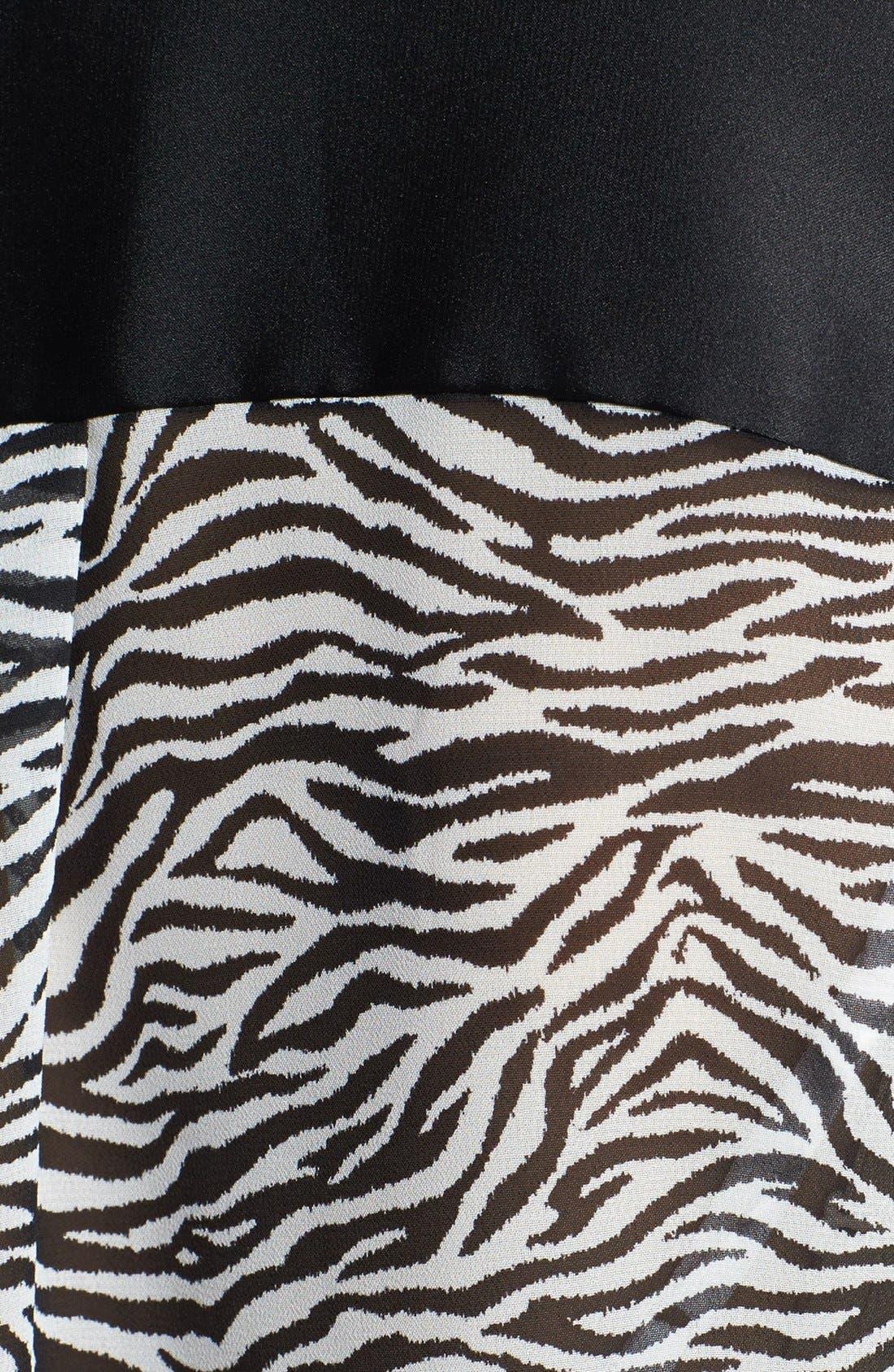 Alternate Image 3  - Vince Camuto Zebra Print Mixed Media Blouse (Plus Size)