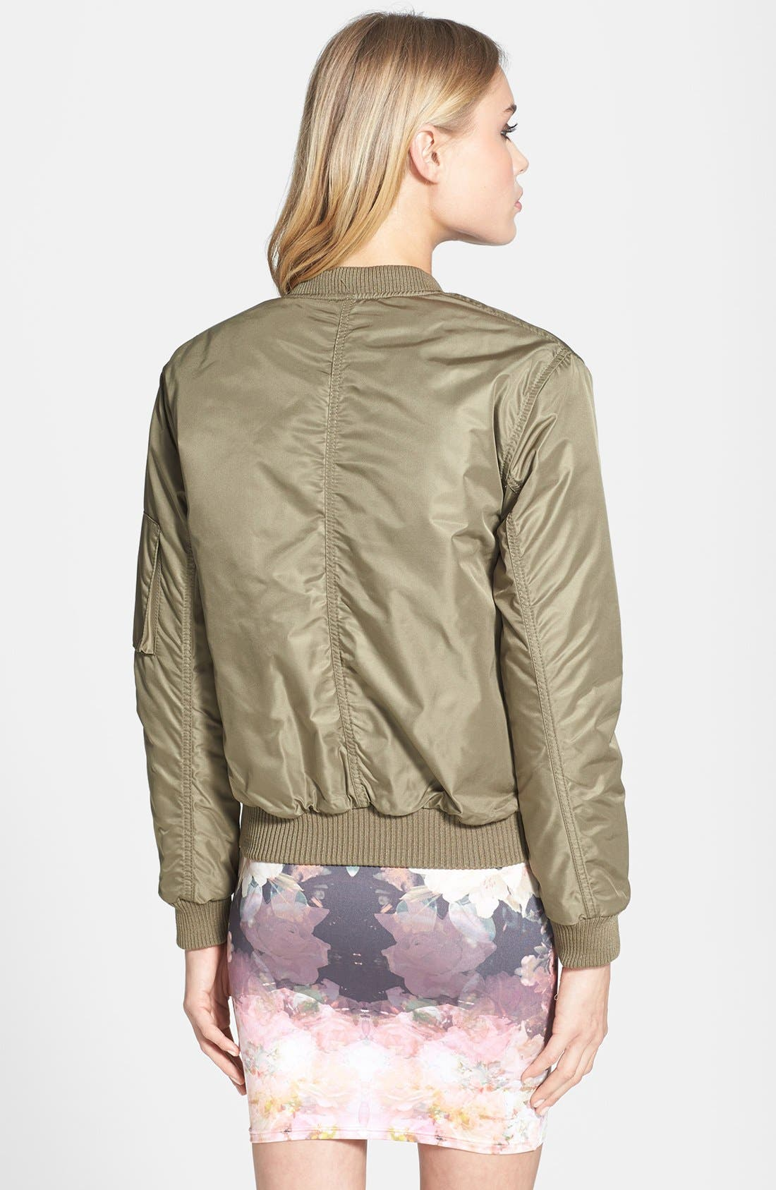 Alternate Image 2  - Topshop 'Airforce' Bomber Jacket