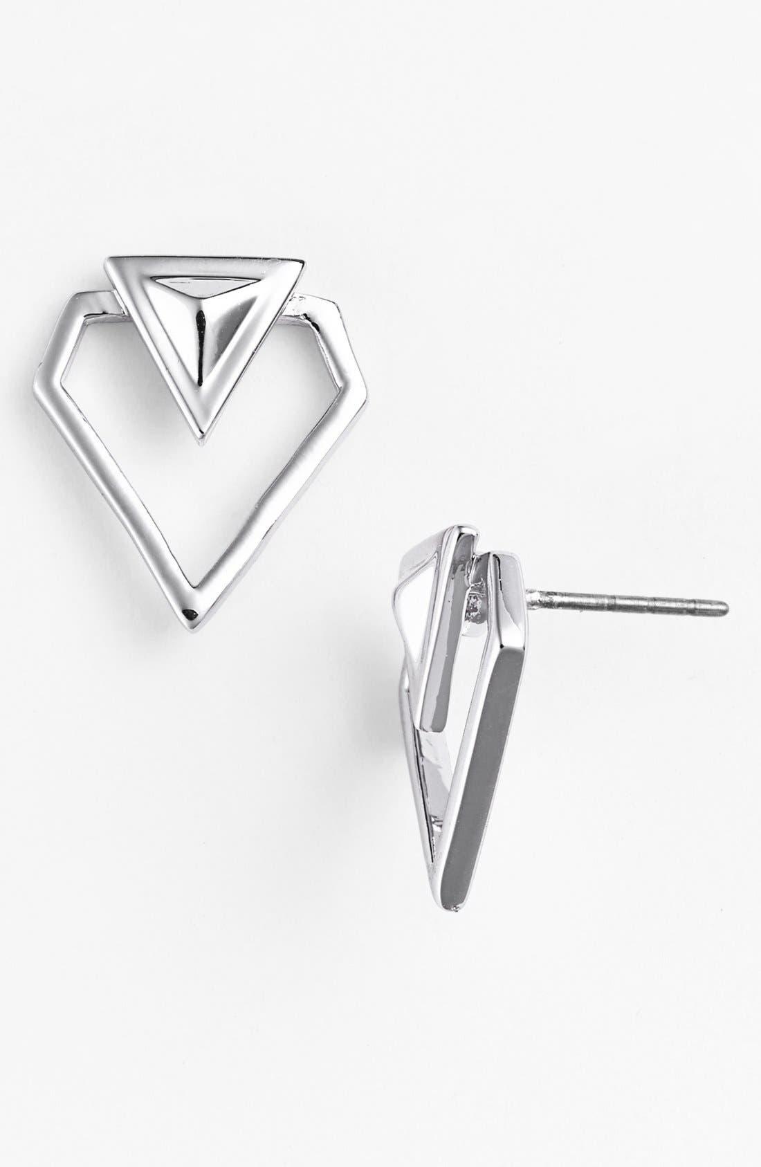 Alternate Image 1 Selected - Rebecca Minkoff 'Blades' Open Stud Earrings