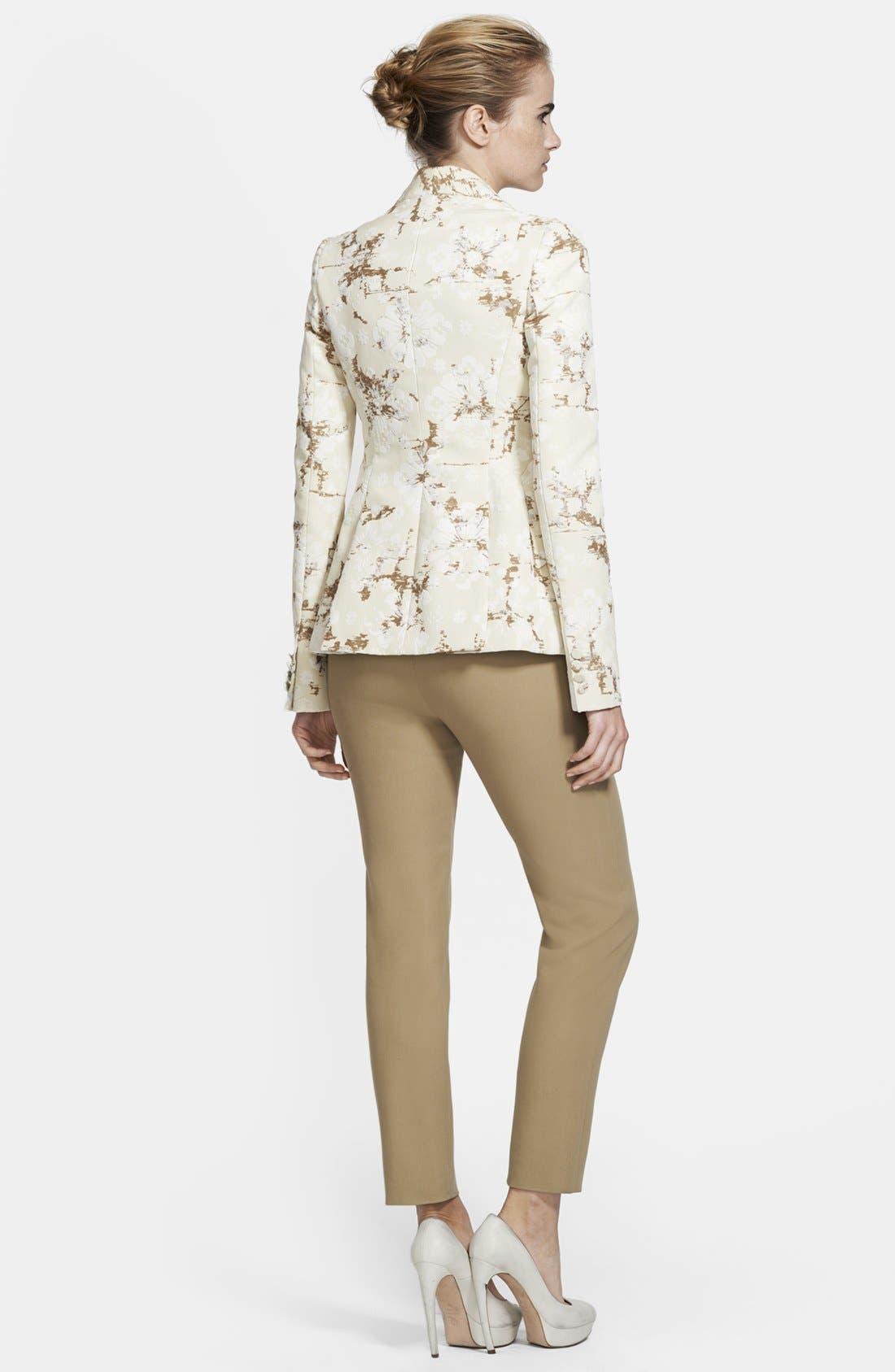 Alternate Image 2  - Alexander McQueen Flocked Cotton Jacquard Blazer