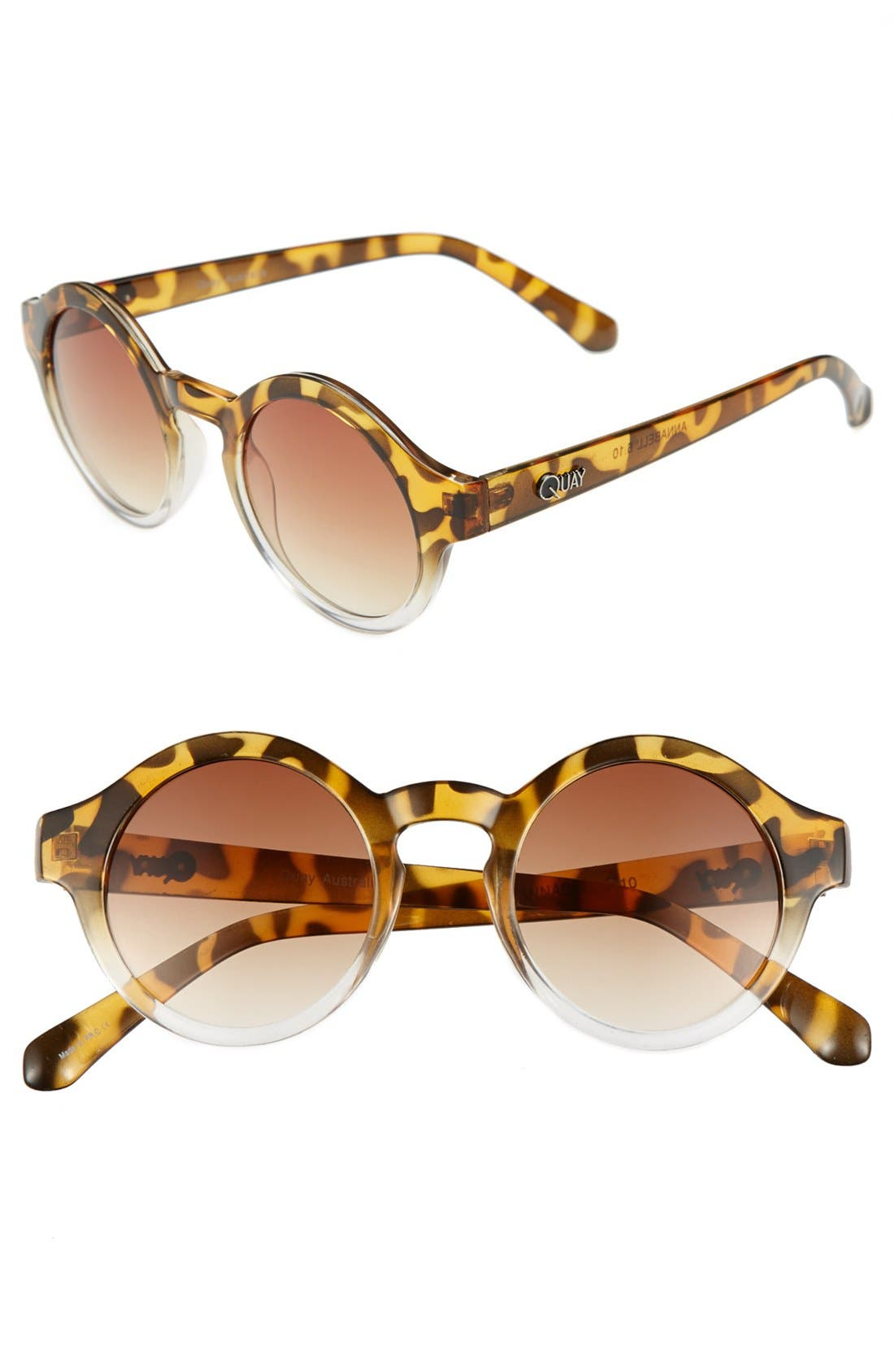 Main Image - Quay 50mm Round Sunglasses