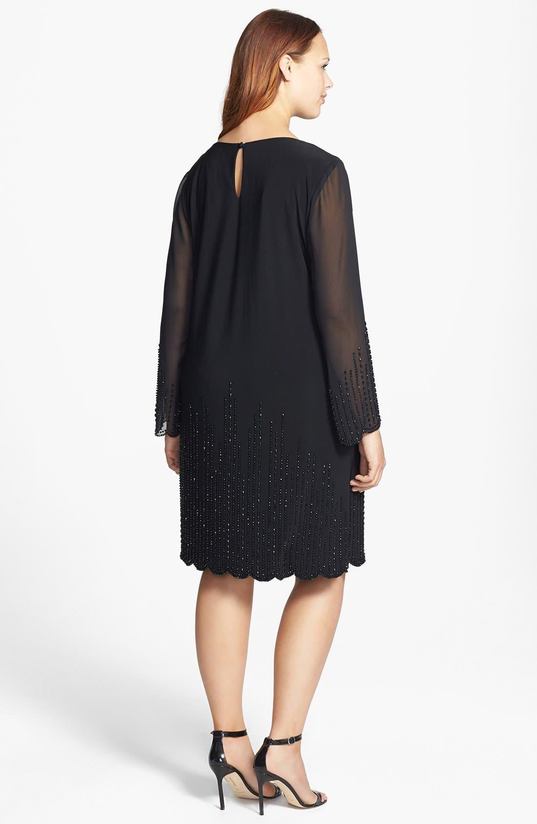 Alternate Image 2  - Xscape Beaded Sheath Dress (Plus Size)