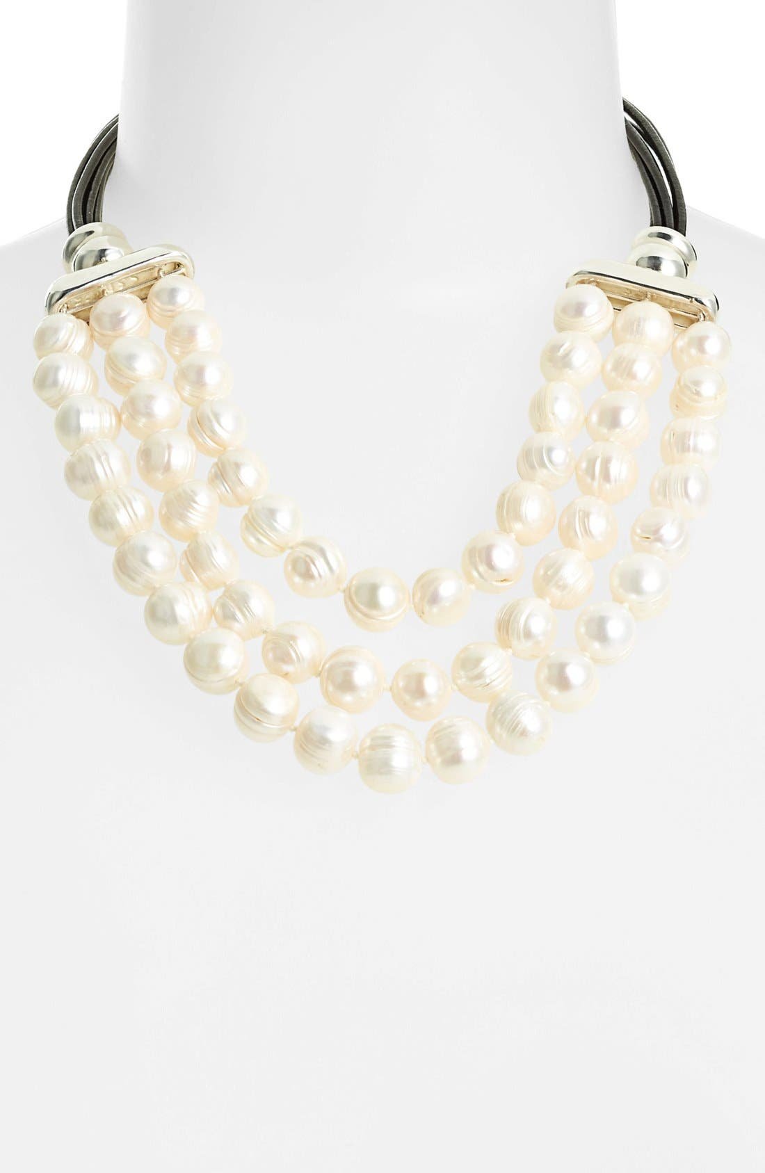 Alternate Image 1 Selected - Simon Sebbag Potato Pearl Frontal Necklace (Online Only)