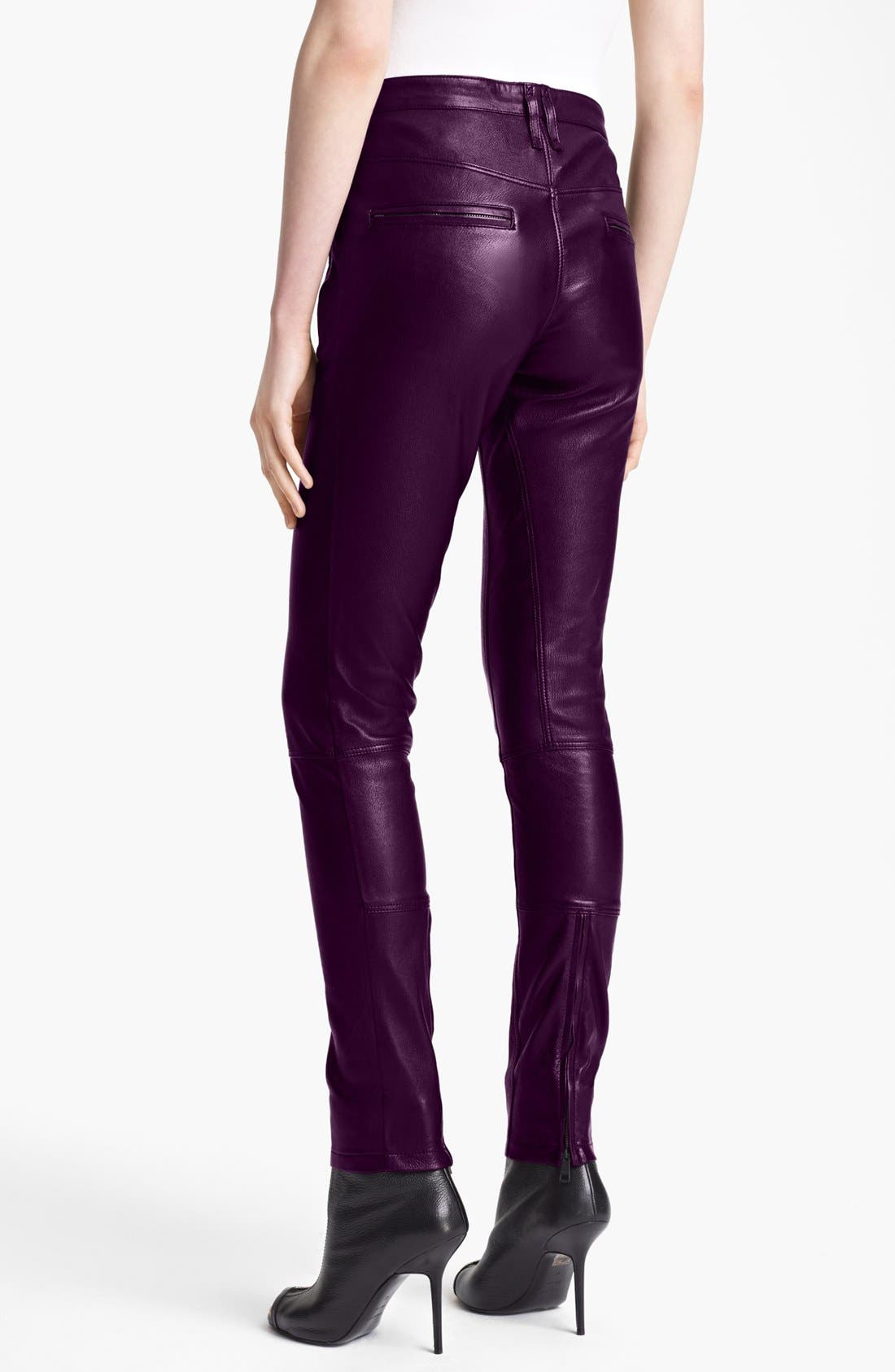 Alternate Image 2  - Burberry Brit 'Clipstone' Leather Pants (Online Only)