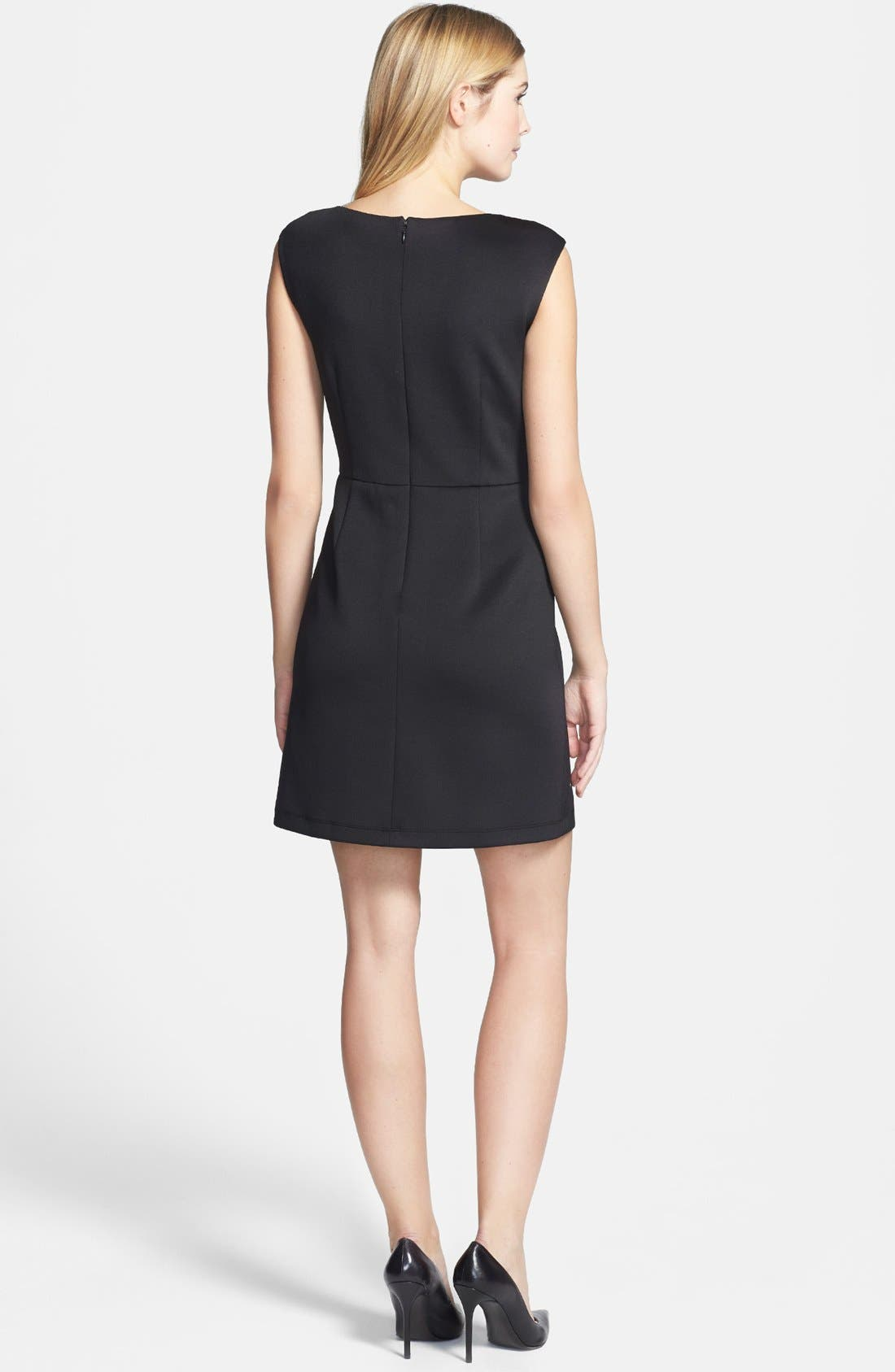 Alternate Image 3  - Betsey Johnson Cap Sleeve Laser Cut Scuba Dress