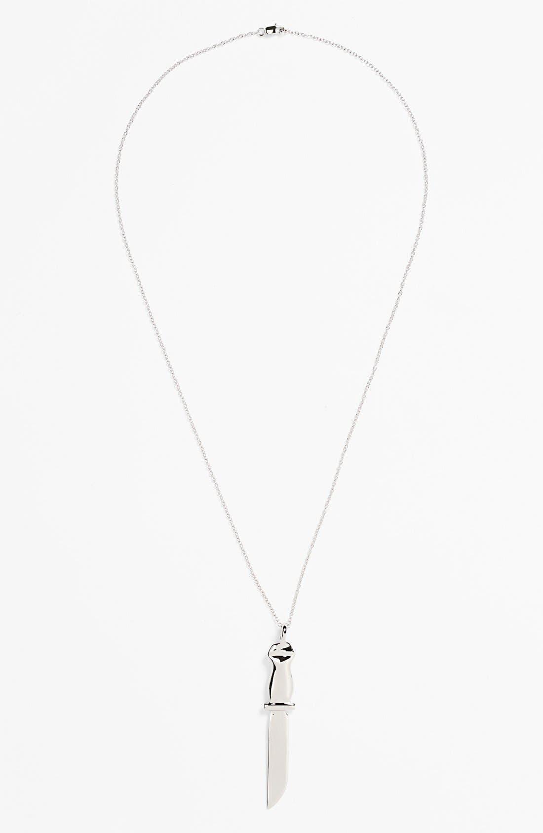 Alternate Image 2  - Mateo Bijoux 'Dagger' Sterling Silver Pendant Necklace