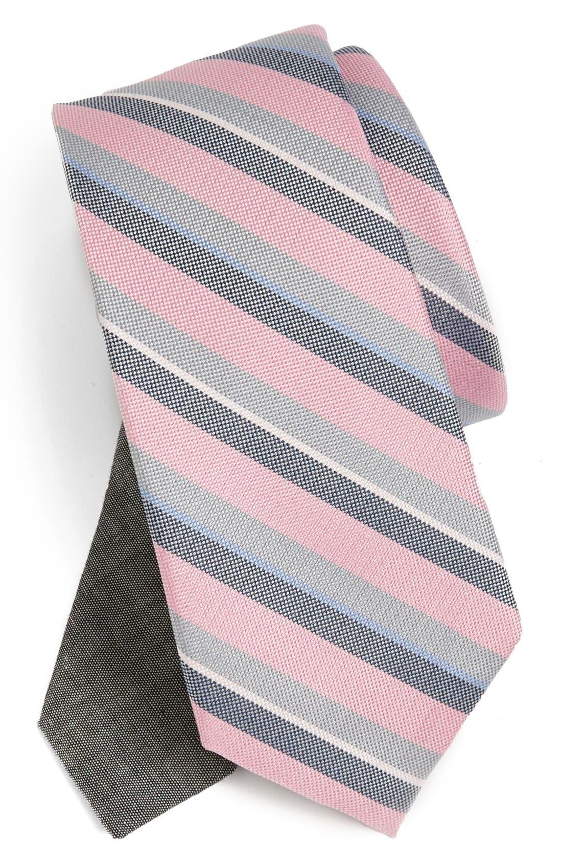 Alternate Image 1 Selected - EDIT by The Tie Bar Stripe Silk Tie (Nordstrom Exclusive)
