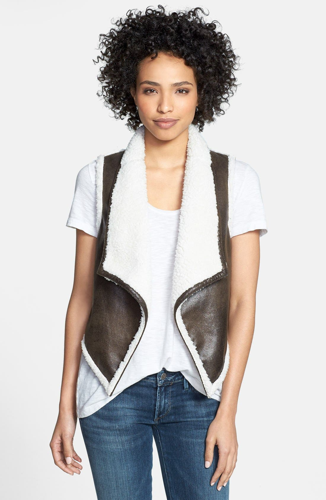Alternate Image 1 Selected - eric + lani Faux Shearling Vest