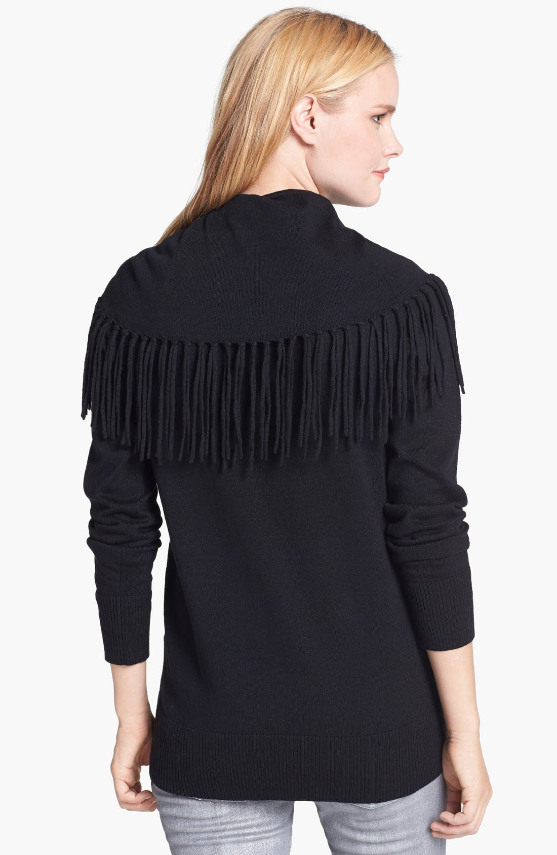 Alternate Image 2  - MICHAEL Michael Kors Fringe Cowl Neck Sweater (Petite)