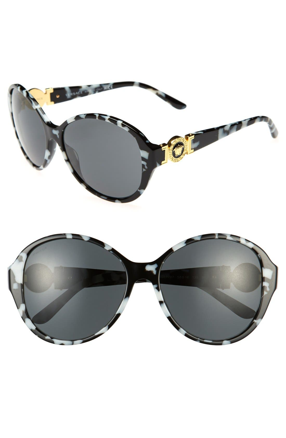Main Image - Versace 58mm Round Sunglasses