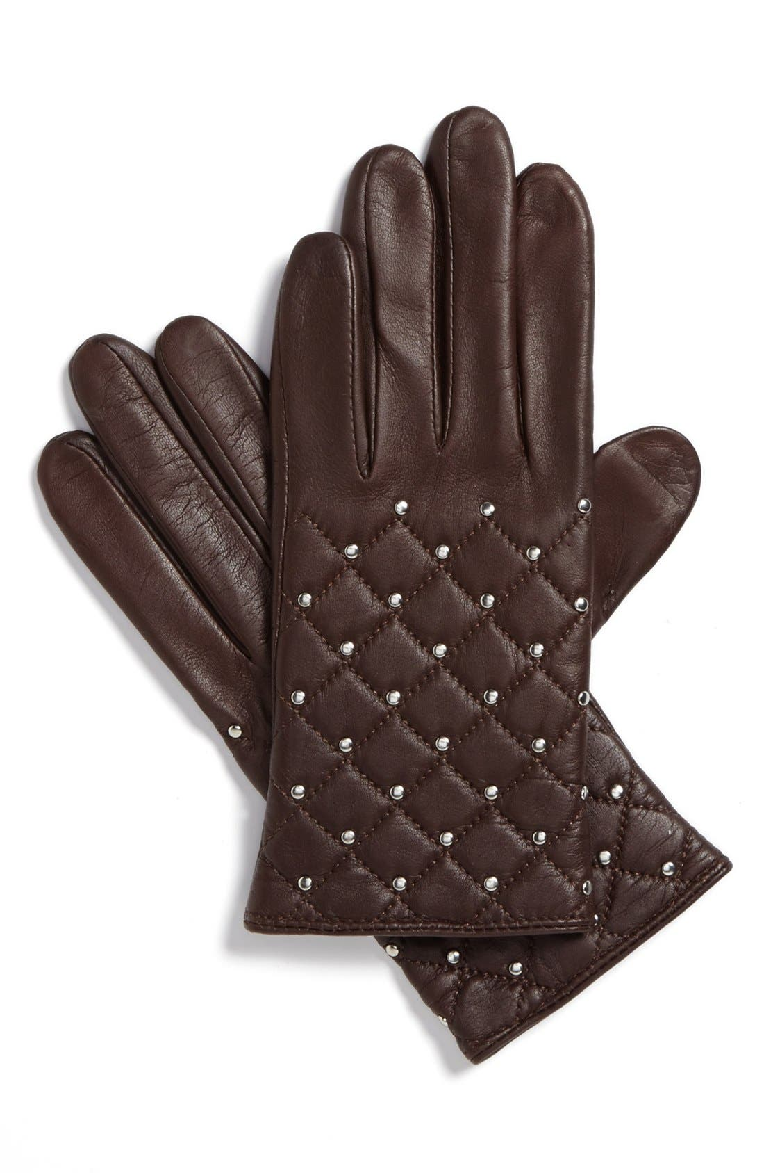 Main Image - Lauren Ralph Lauren Quilted Tech Gloves