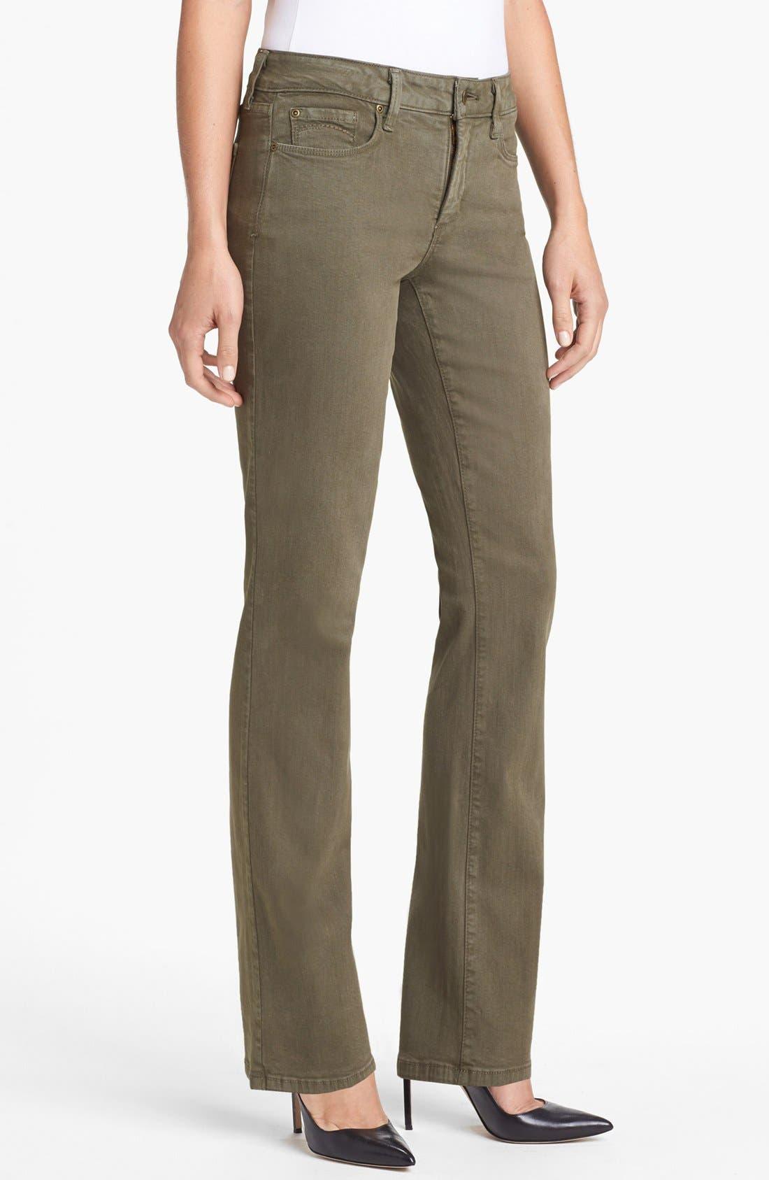 Alternate Image 1  - NYDJ 'Barbara' Colored Stretch Bootcut Jeans