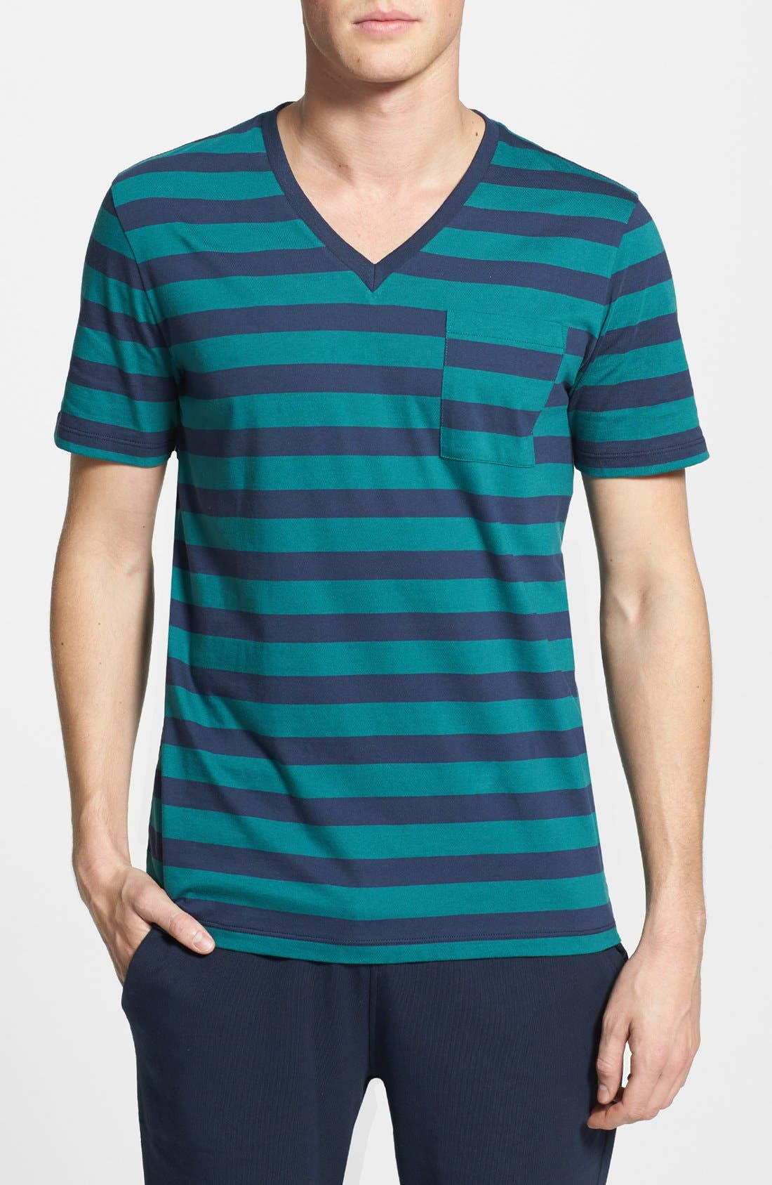 Alternate Image 1 Selected - HUGO 'Dimbu' V-Neck T-Shirt