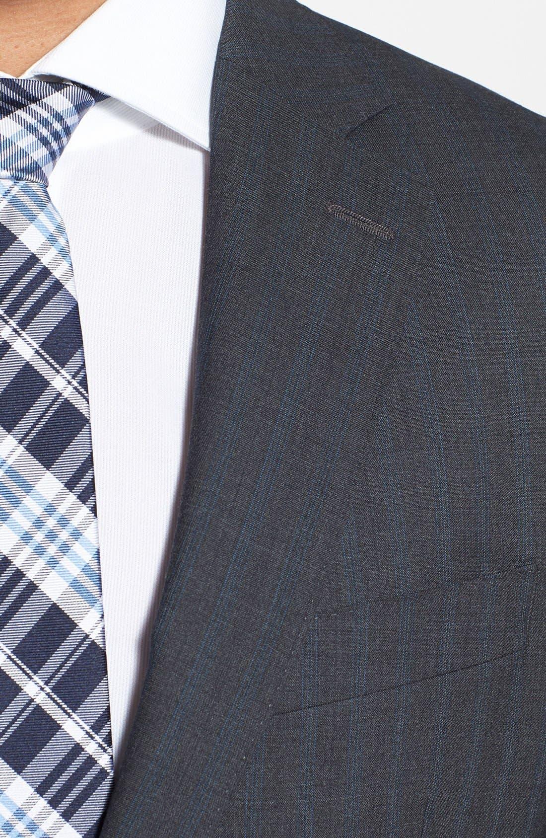Alternate Image 5  - Peter Millar Classic Fit Stripe Suit